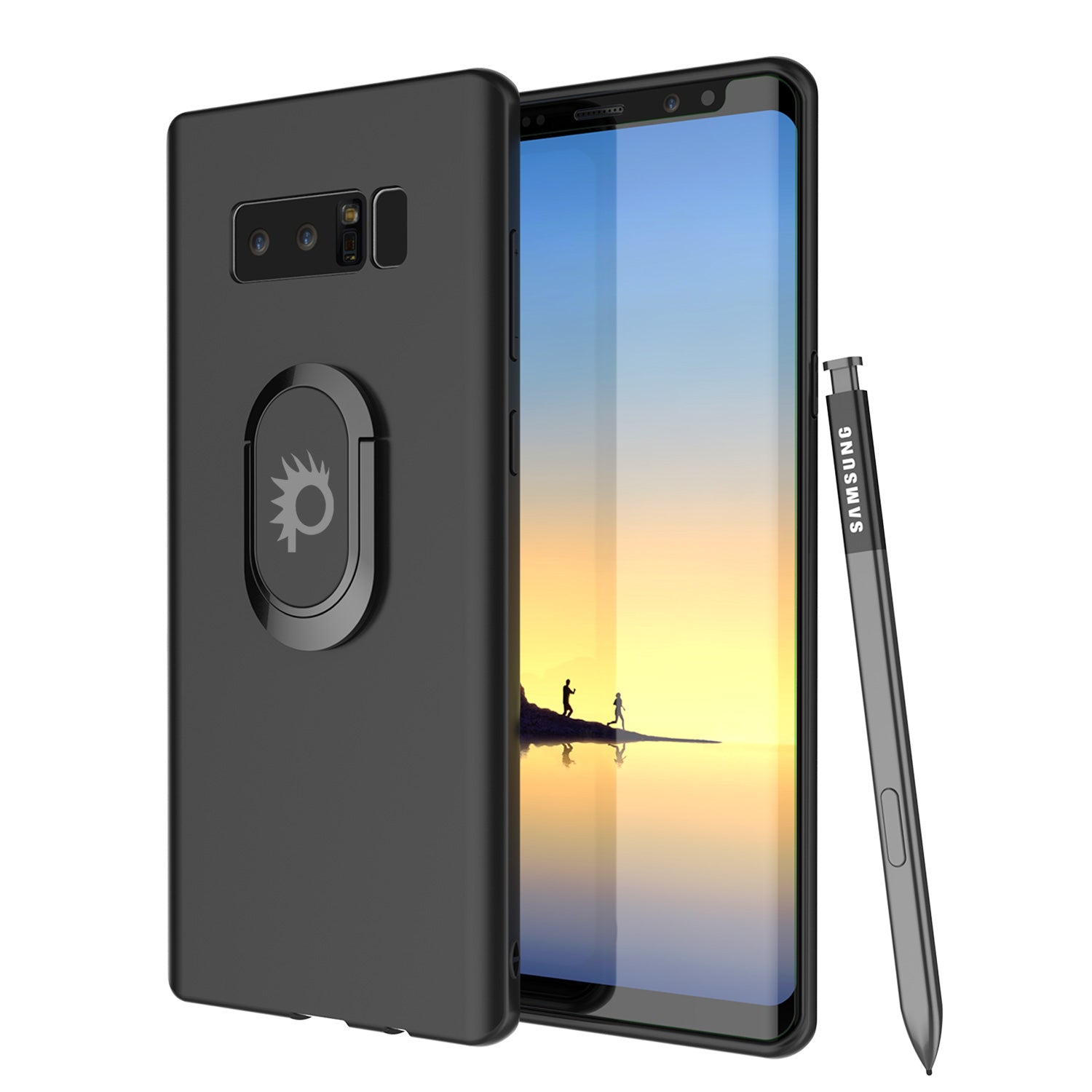 buy popular adffd 15aea Galaxy Note 8 Punkcase Magnetix Screen Protector Slim Case [Black]