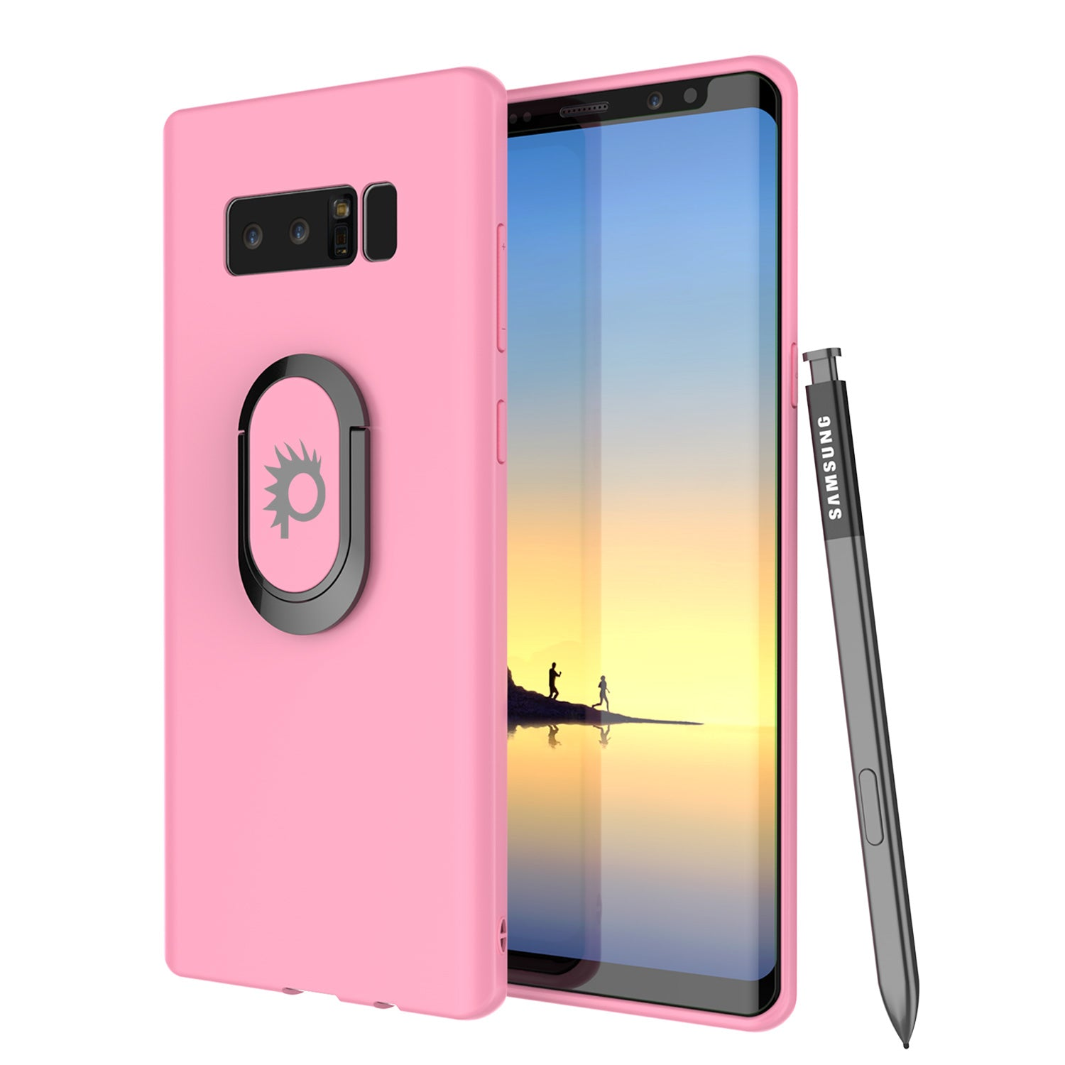 Galaxy Note 8 Punkcase Magnetix Screen Protector Slim Case [Pink]
