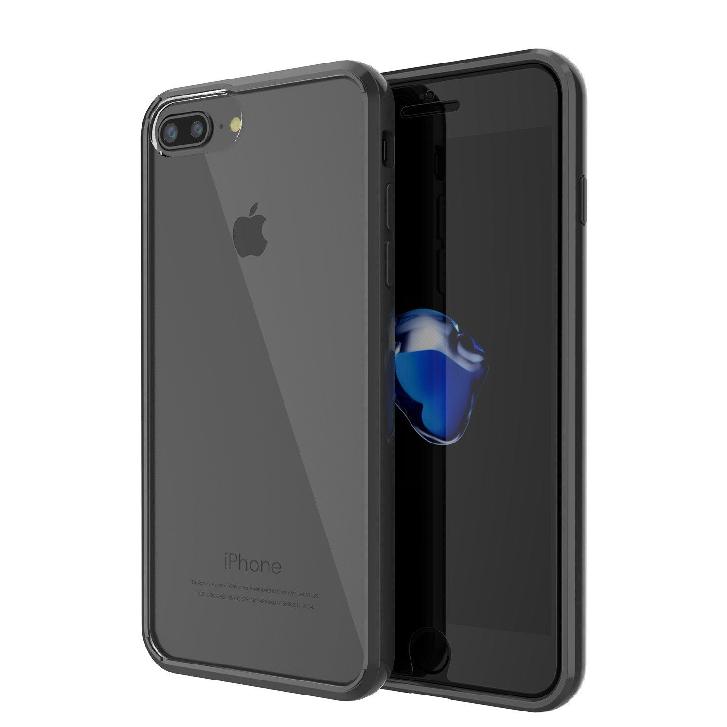 iPhone 8+ Plus Case PunkCase LUCID Black Series for Apple iPhone 8+ Plus