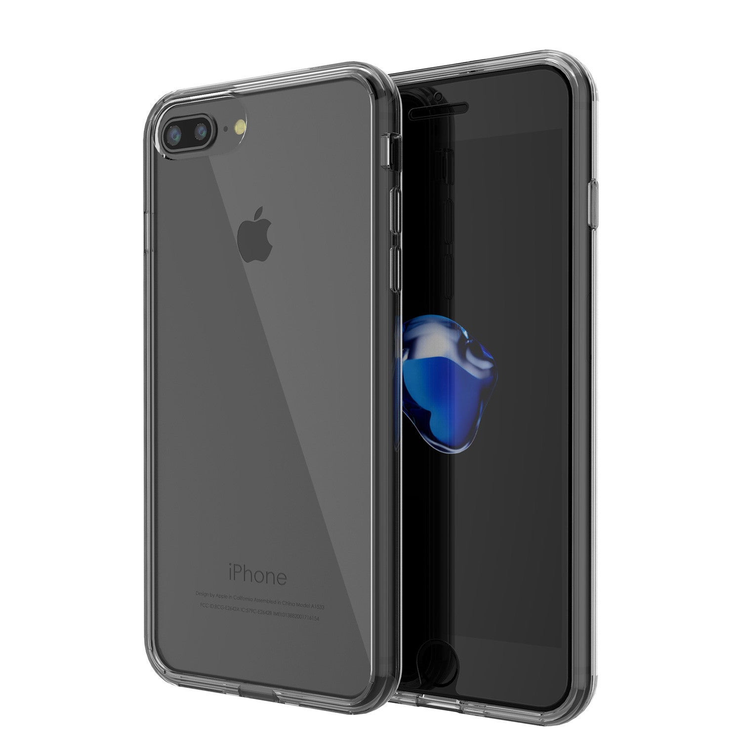 iPhone 7+ Plus Case Punkcase® LUCID 2.0 Crystal Black Series w/ SHIELD Screen Protector | Ultra Fit