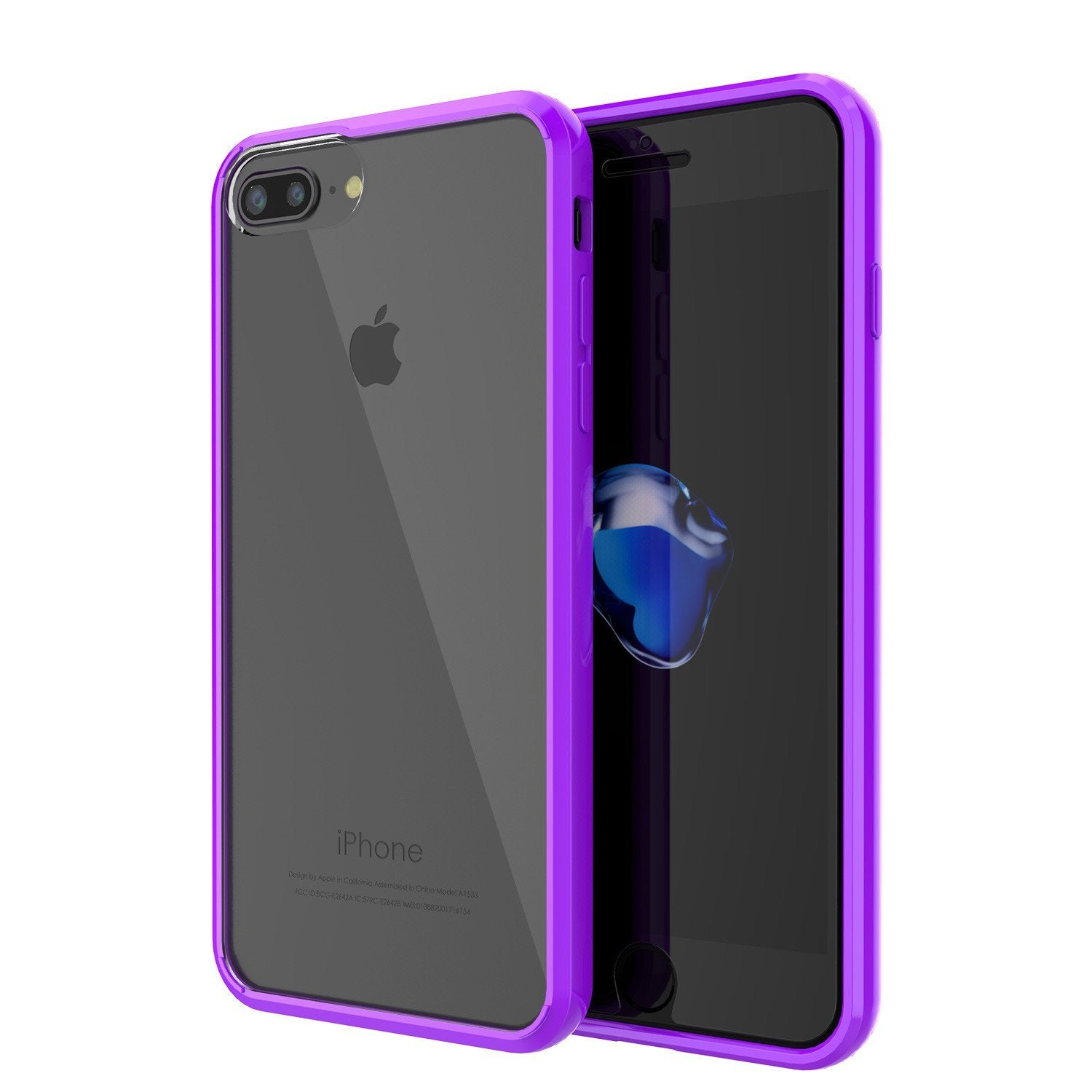 "iPhone SE (4.7"") Case Punkcase® LUCID 2.0 Purple Series w/ PUNK SHIELD Screen Protector 