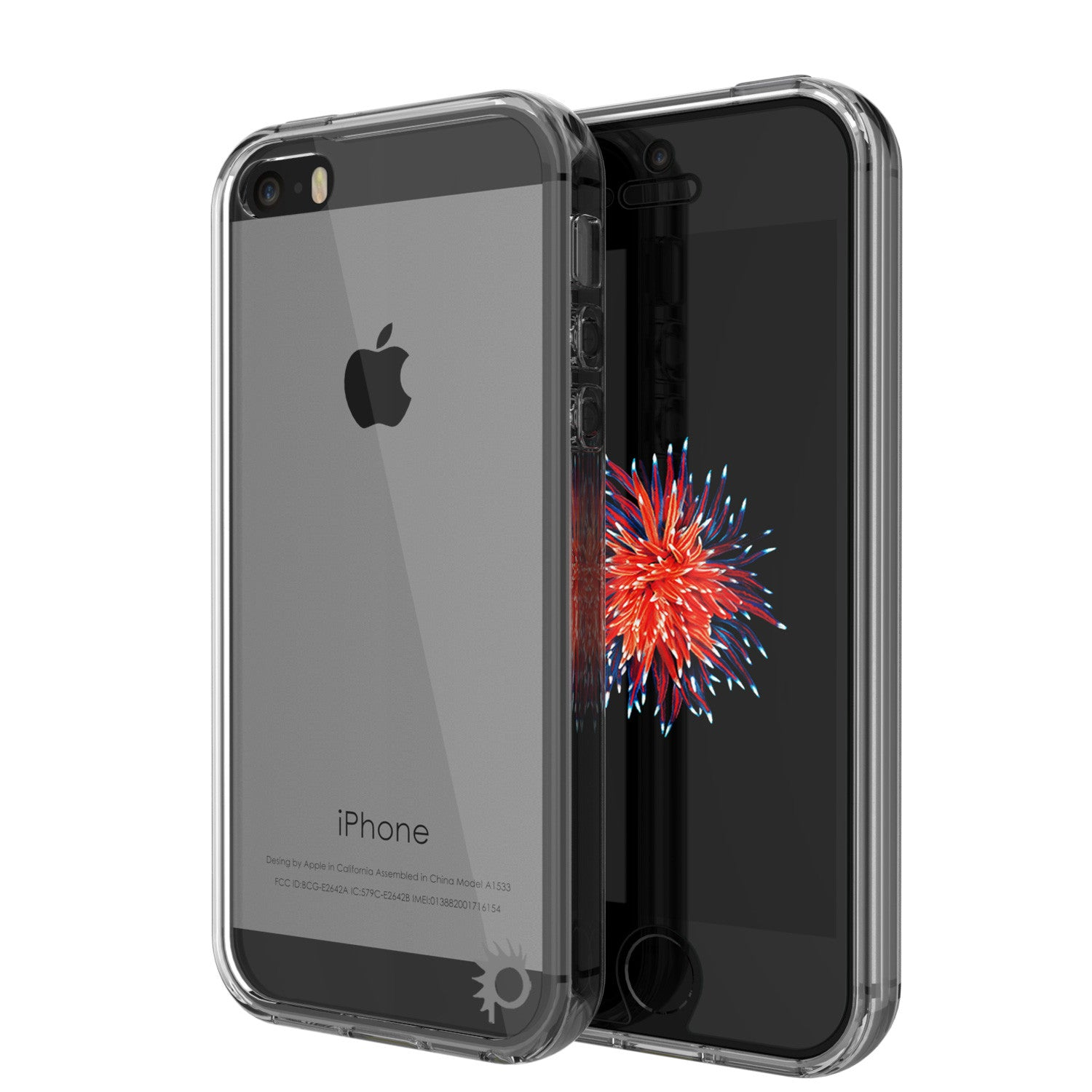 iPhone SE/5S/5 Case Punkcase® LUCID 2.0 Crystal Black Series w/ PUNK SHIELD Screen Protector | Ultra Fit
