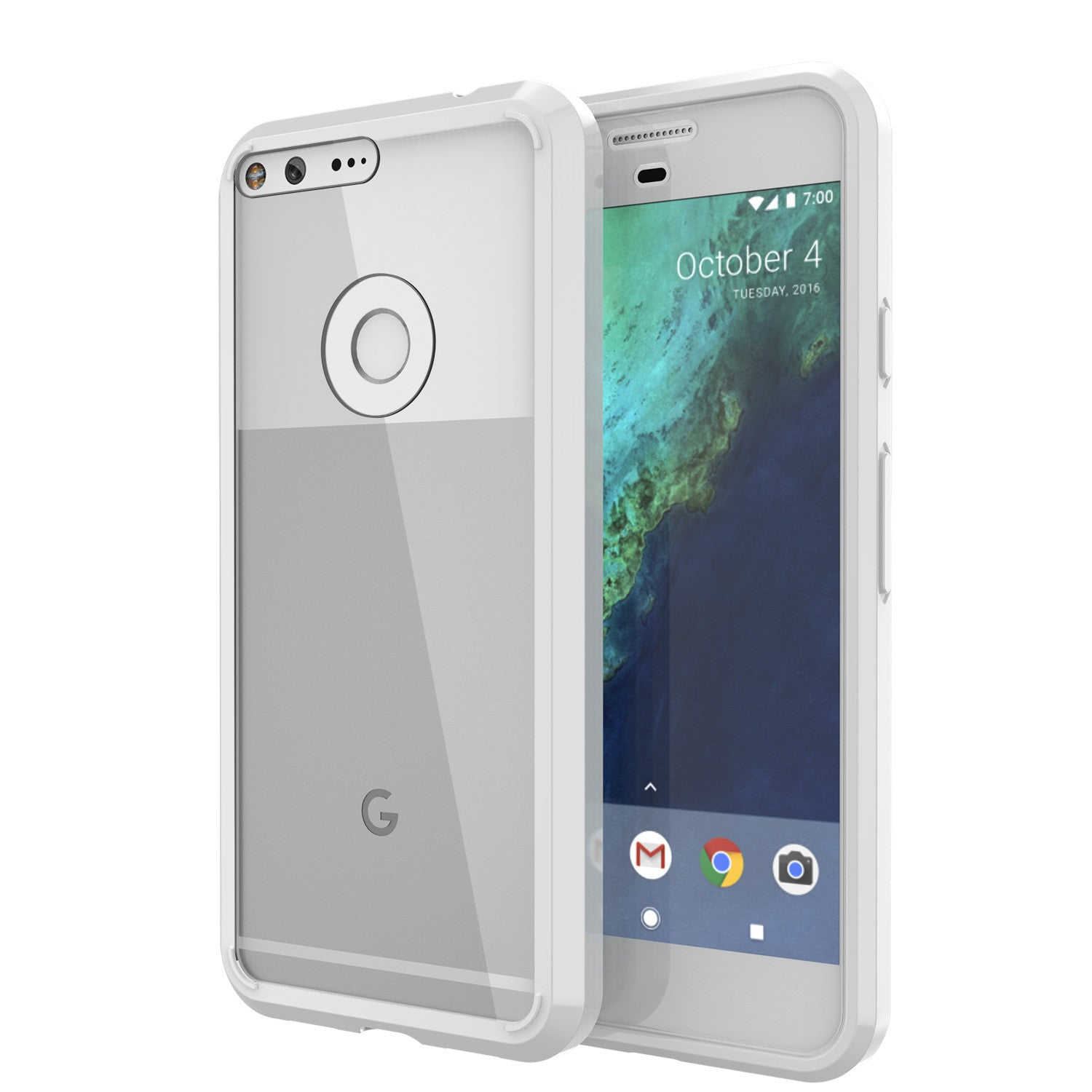 Google Pixel XL Case Punkcase® LUCID 2.0 White Series w/ PUNK SHIELD Glass Screen Protector | Ultra Fit