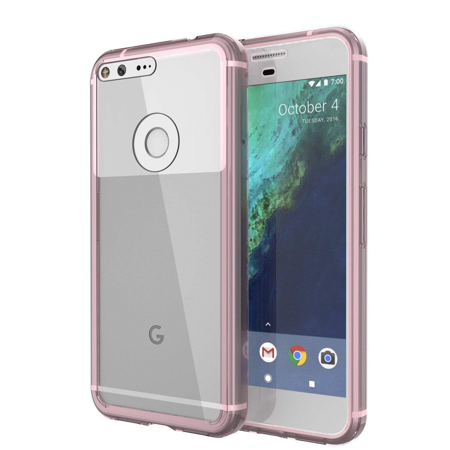 Google Pixel Case Punkcase® LUCID 2.0 Crystal Pink Series w/ PUNK SHIELD Glass Screen Protector | Ultra Fit
