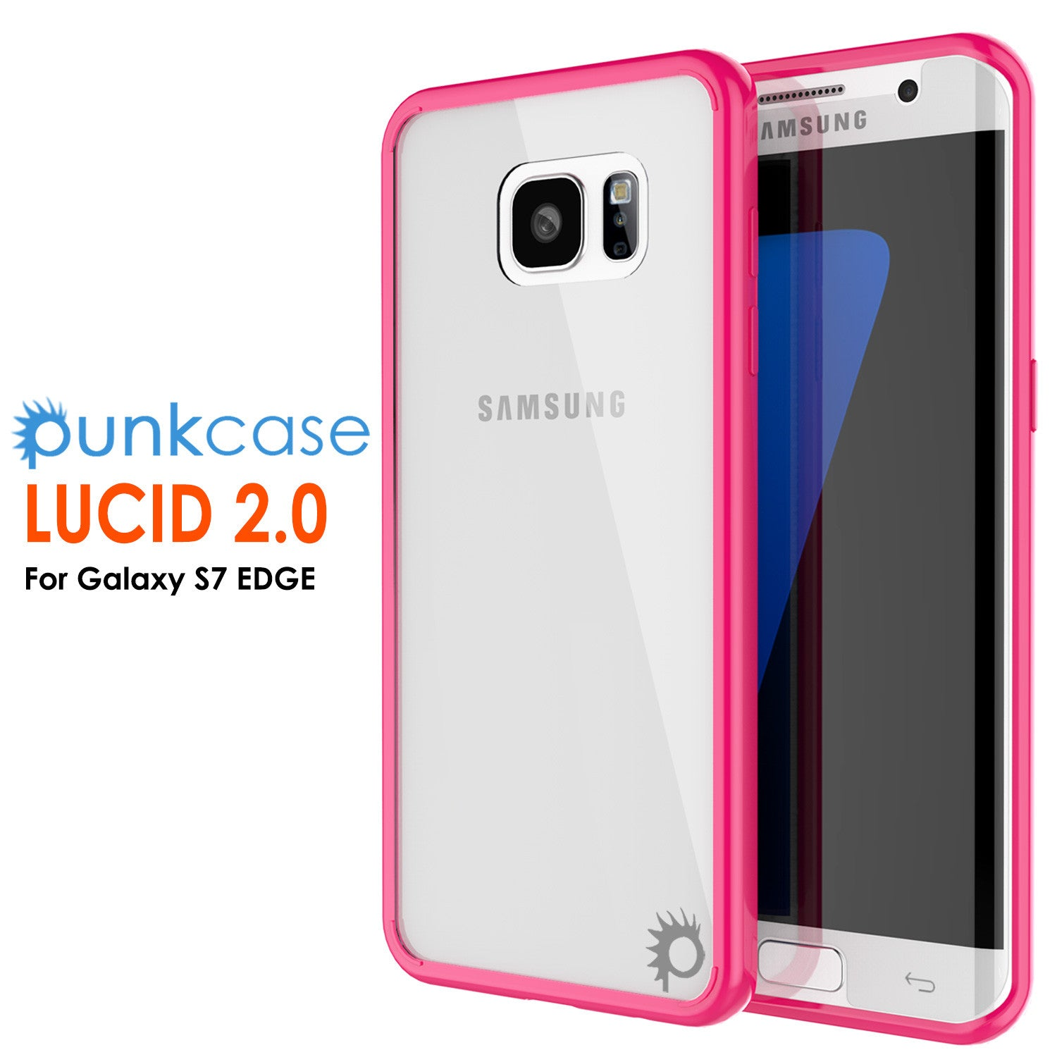 S7 Edge Case Punkcase® LUCID 2.0 Pink Series w/ PUNK SHIELD Screen Protector | Ultra Fit