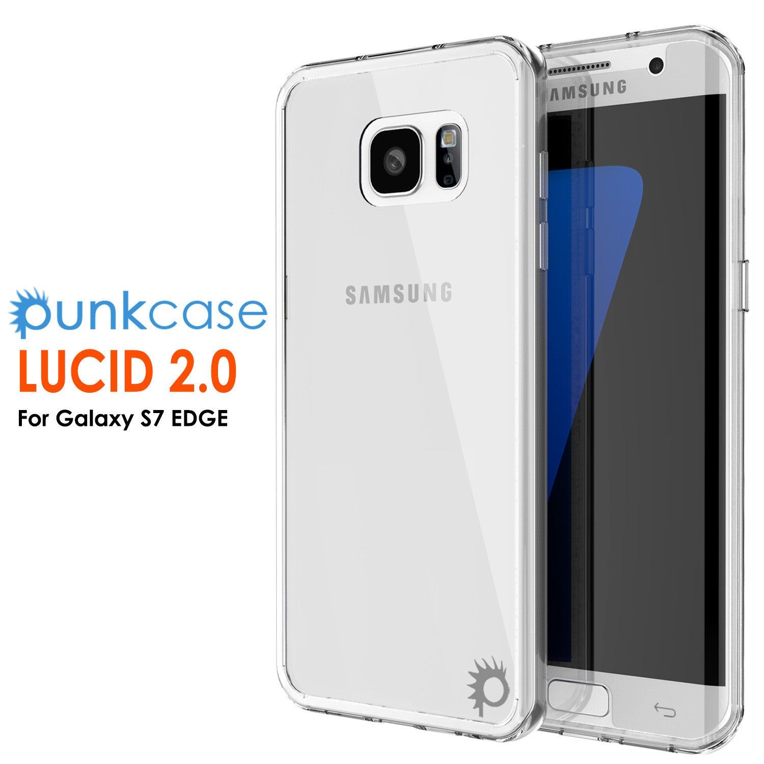 S7 Edge Case Punkcase® LUCID 2.0 Clear Series w/ PUNK SHIELD Screen Protector | Ultra Fit