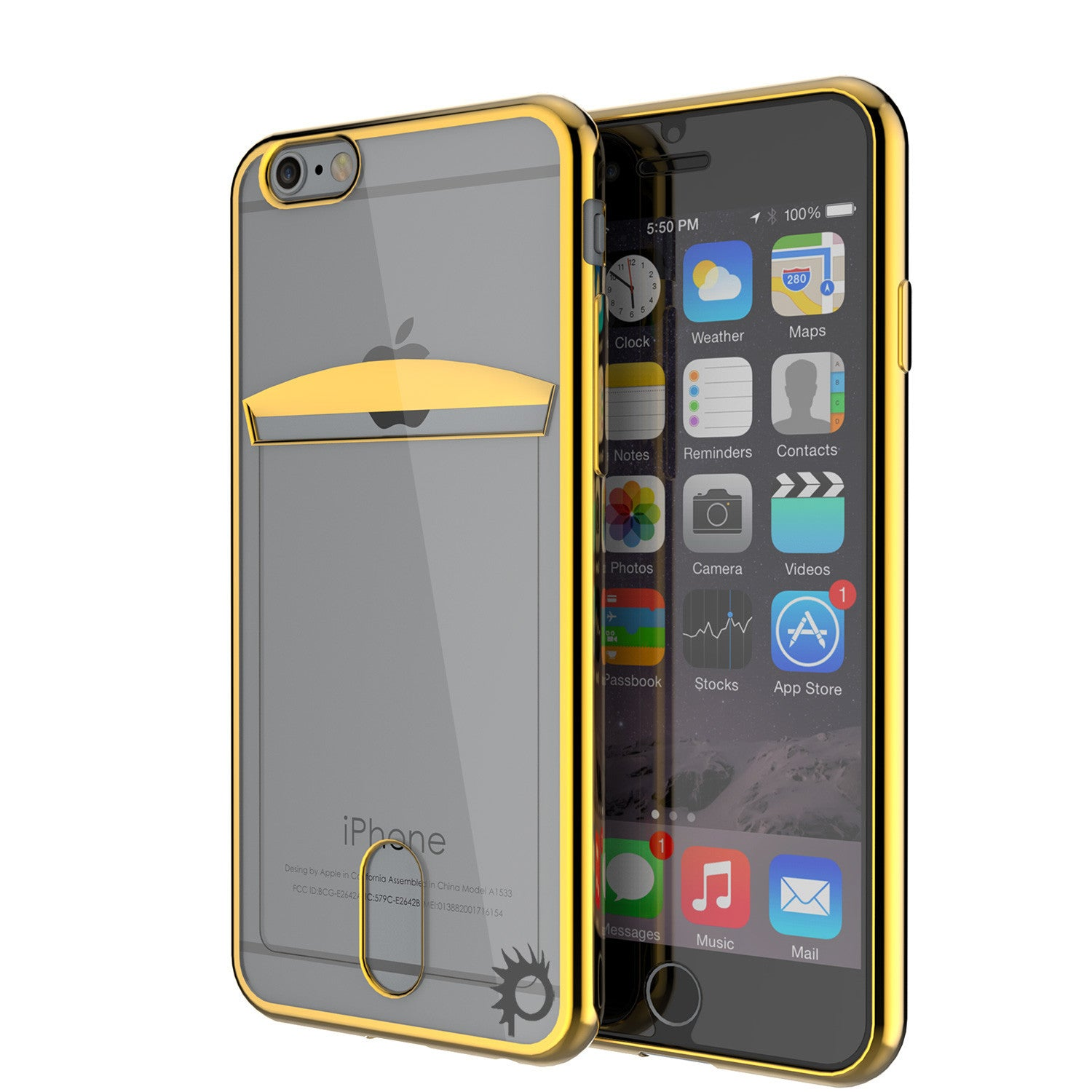 iPhone 6s+ Plus/6+ Plus Case, PUNKCASE® LUCID Gold Series | Card Slot | SHIELD Screen Protector
