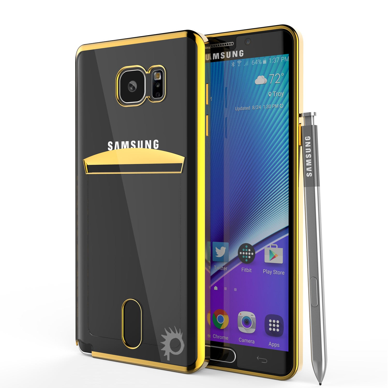 Galaxy Note 5 Case, PUNKCASE® LUCID Gold Series | Card Slot | SHIELD Screen Protector | Ultra fit
