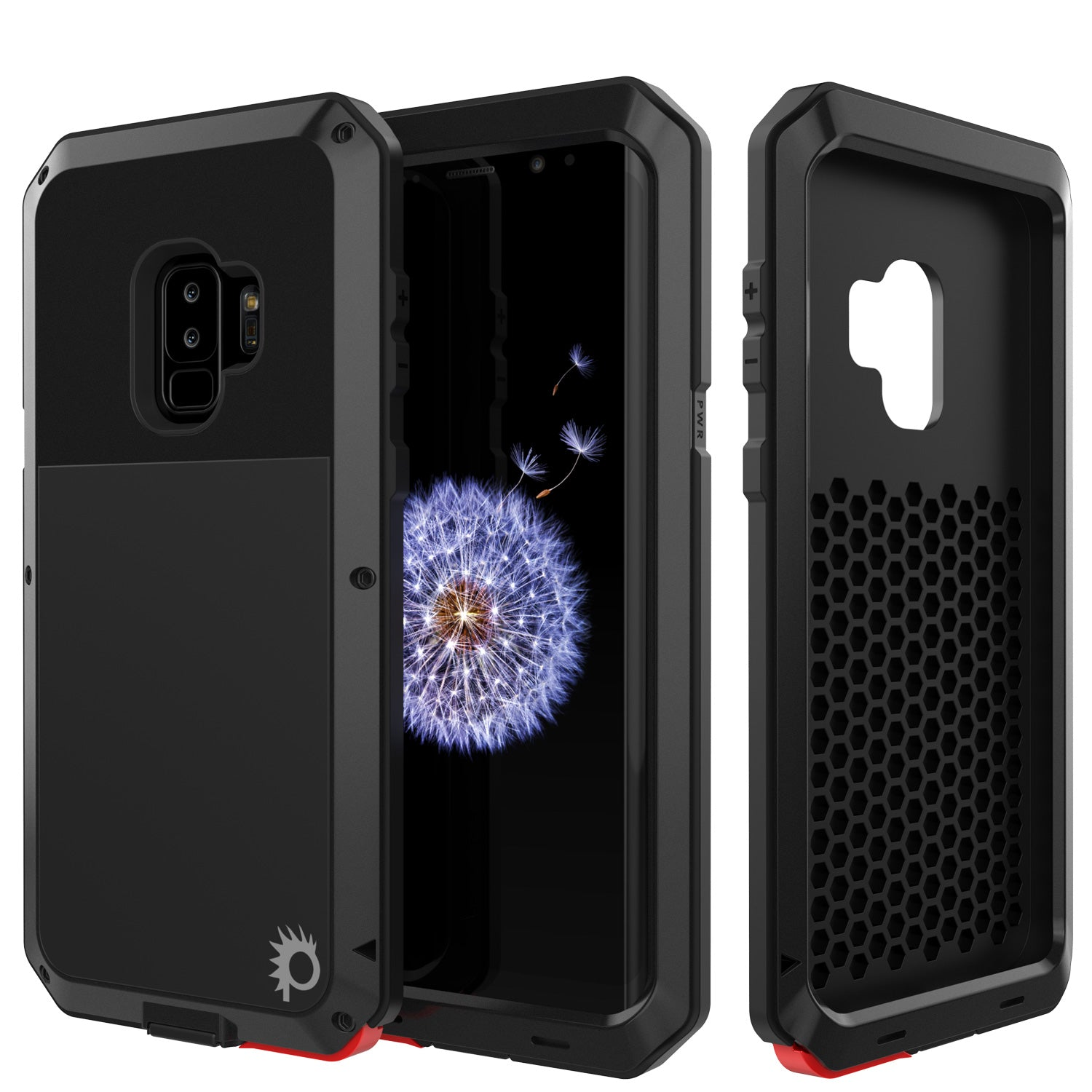 promo code 27b6e fdc29 Galaxy S9 Plus Metal Case, Heavy Duty Military Grade Rugged Armor Cover  [Black]