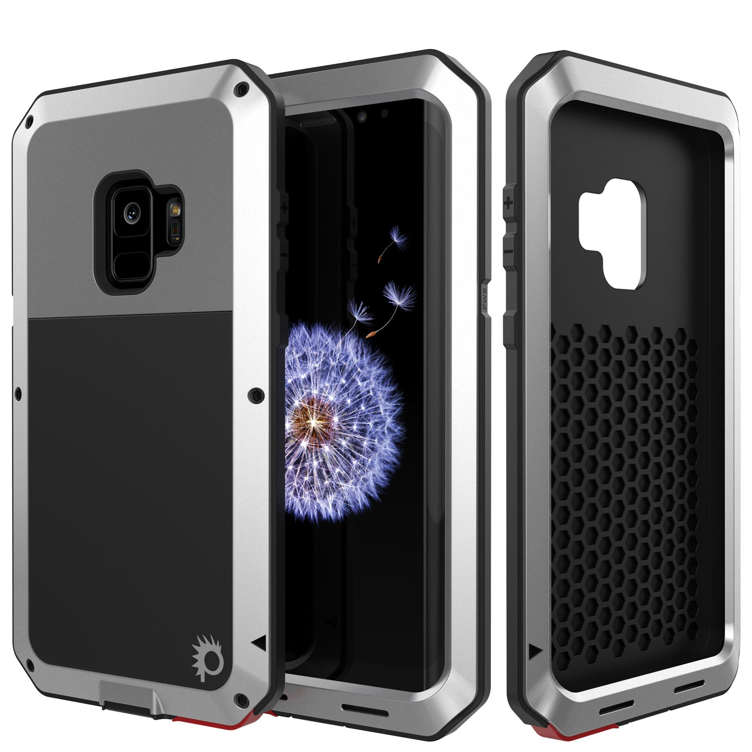 Galaxy S9 Metal Case, Heavy Duty Military Grade Rugged Armor Cover [Silver]