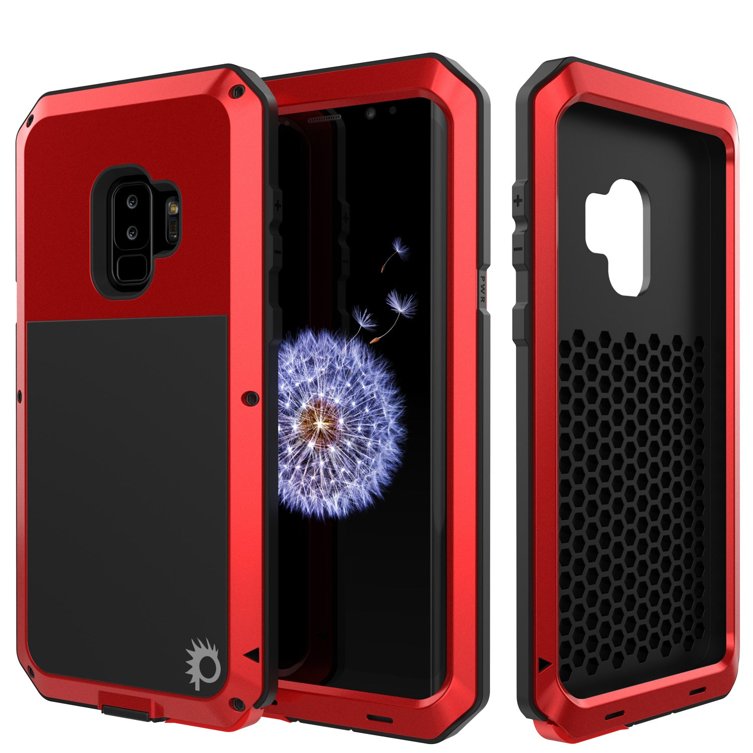 best service 086c9 b7fb2 Galaxy S9 Plus Metal Case, Heavy Duty Military Grade Rugged Armor Cover  [Red]