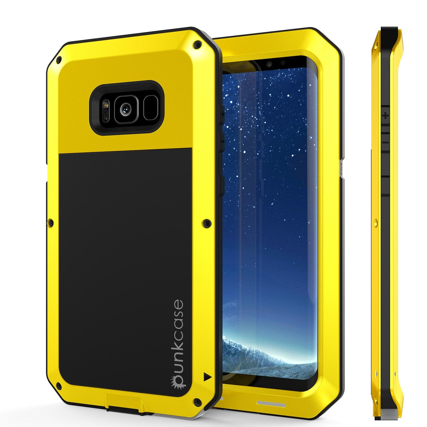 Galaxy Note 8  Case, PUNKcase Metallic Neon Shockproof  Slim Metal Armor Case [Yellow]