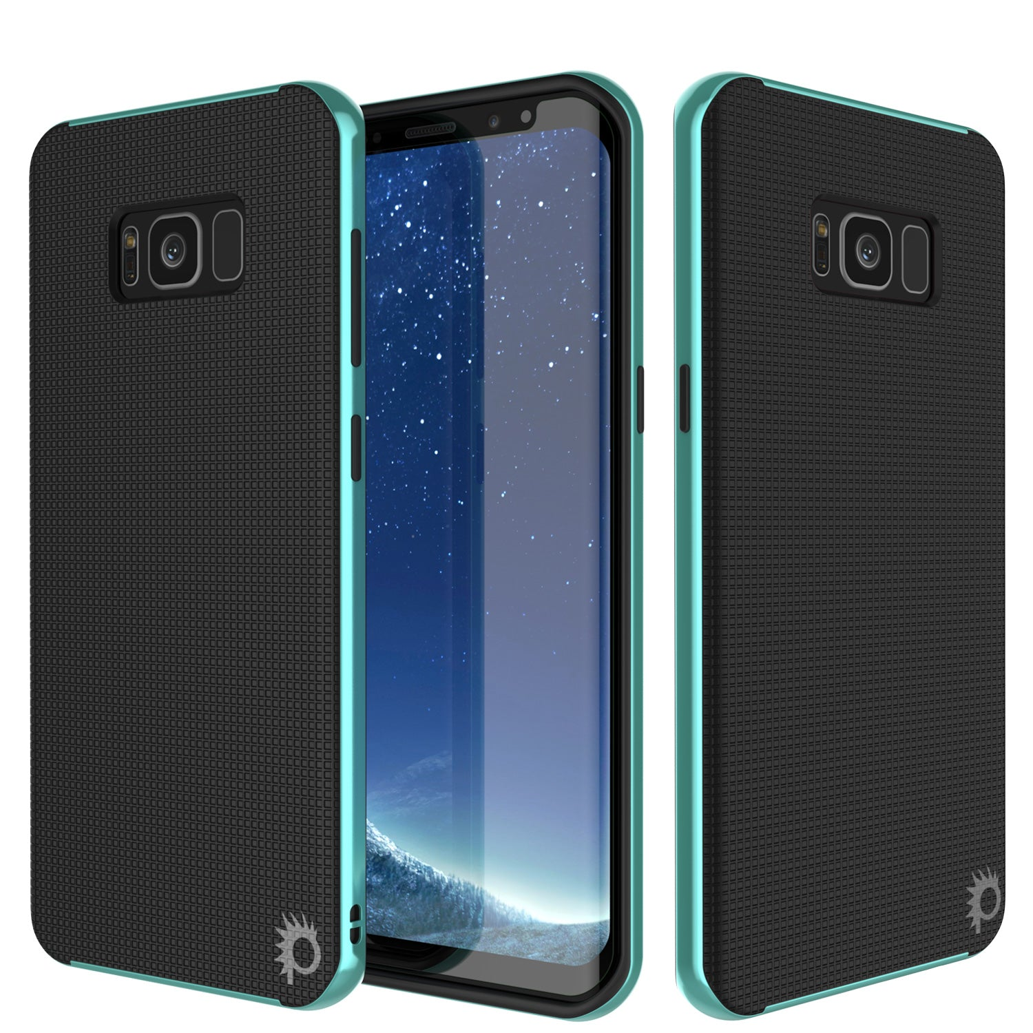Galaxy S8 Case, PunkCase Stealth Teal Series Hybrid 3-Piece Shockproof Dual Layer Cover
