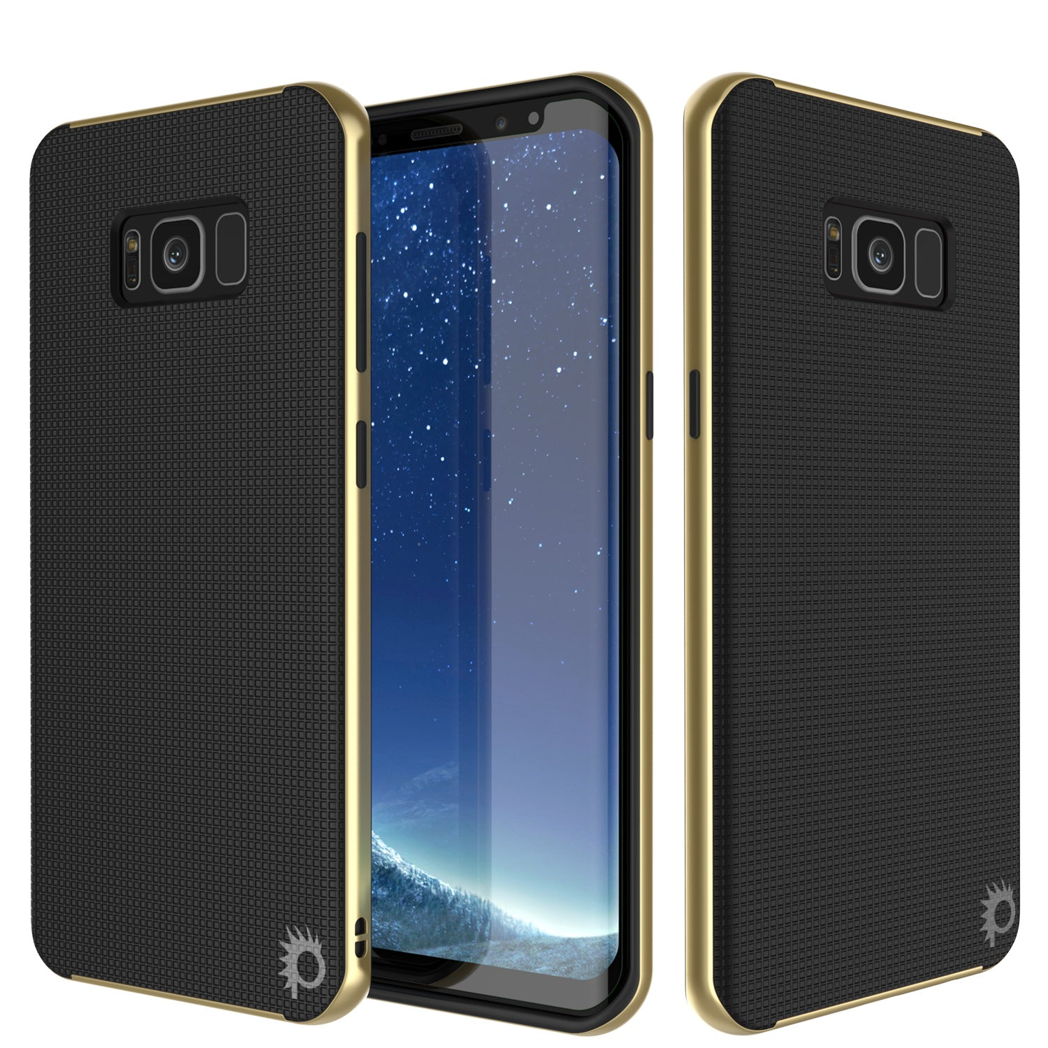 Galaxy S8 Case, PunkCase Stealth Gold Series Hybrid 3-Piece Shockproof Dual Layer Cover