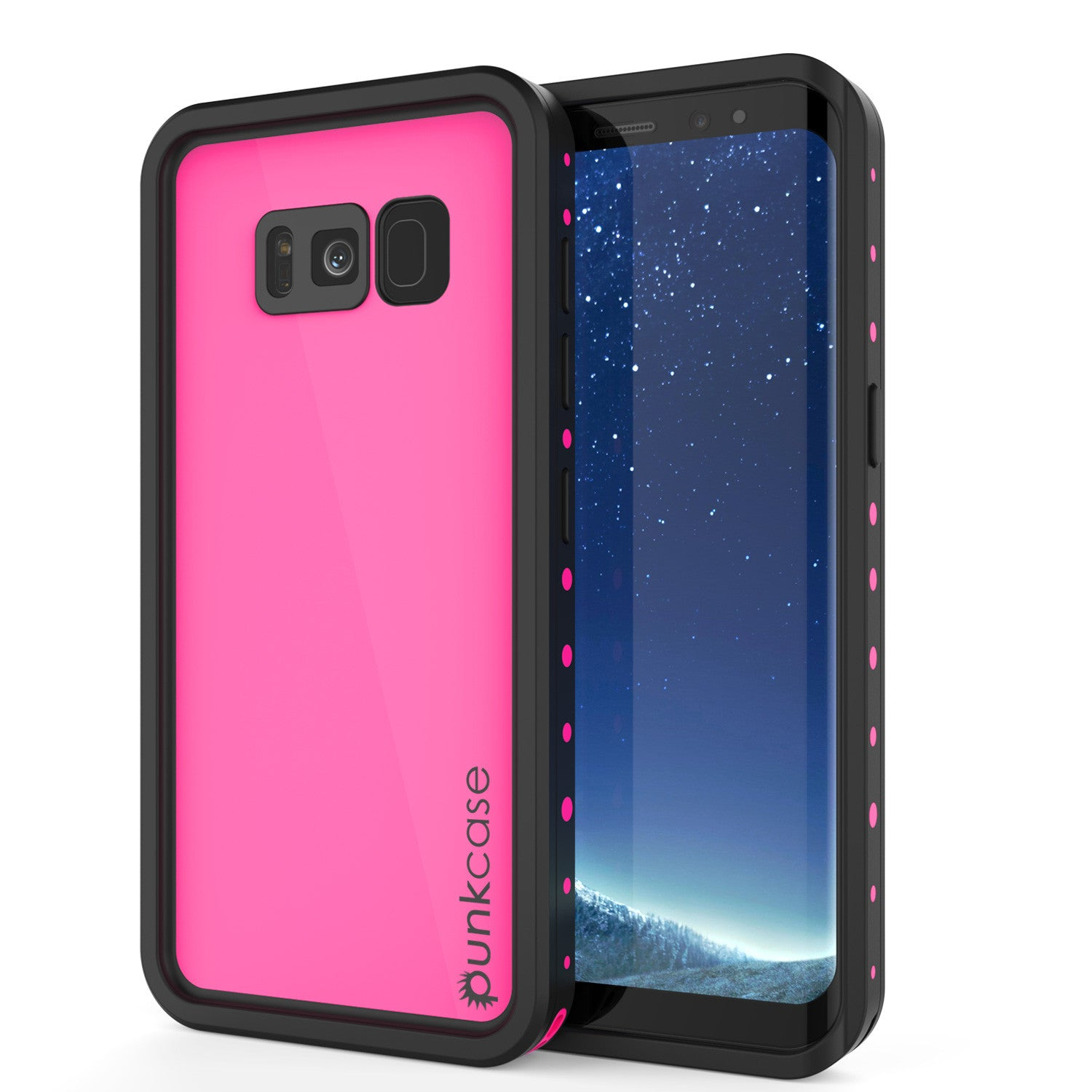 Galaxy S8 Plus Waterproof Case PunkCase StudStar Pink Thin 6.6ft Underwater IP68 Shock/Snow Proof