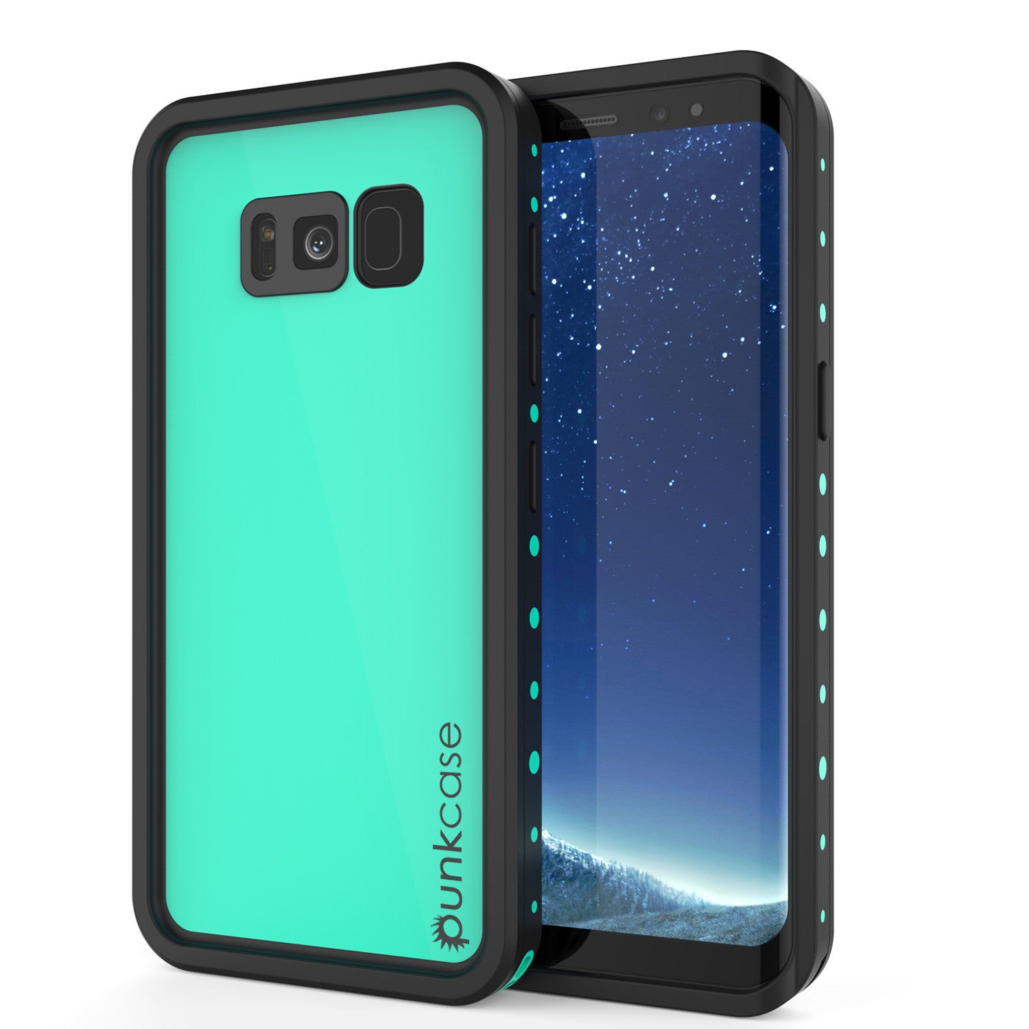 Galaxy S8 Plus Waterproof Case PunkCase StudStar Teal Thin 6.6ft Underwater IP68 Shock/Snow Proof