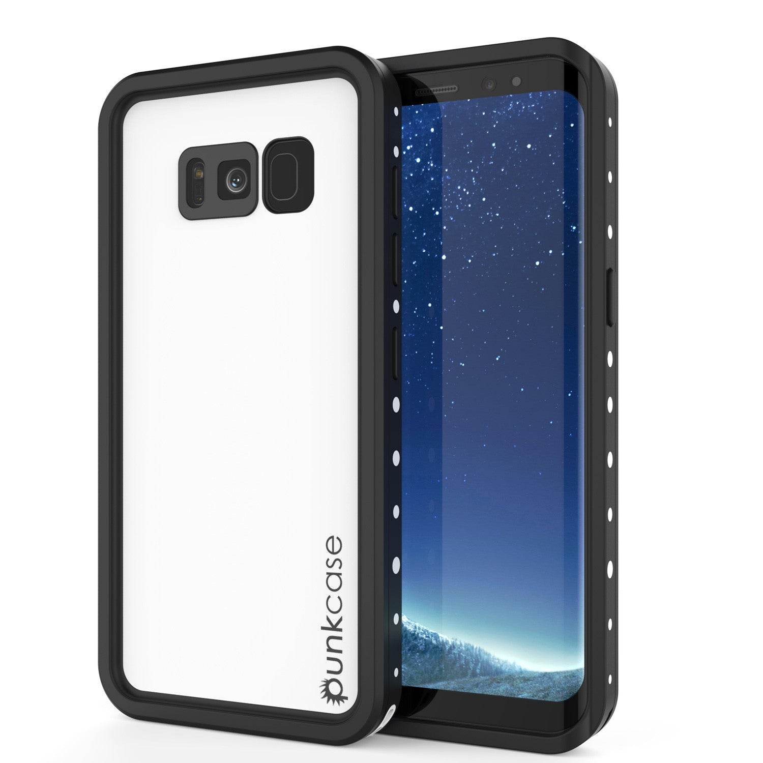Galaxy S8 Waterproof Case, Punkcase StudStar White Thin 6.6ft Underwater IP68 Shock/Snow Proof