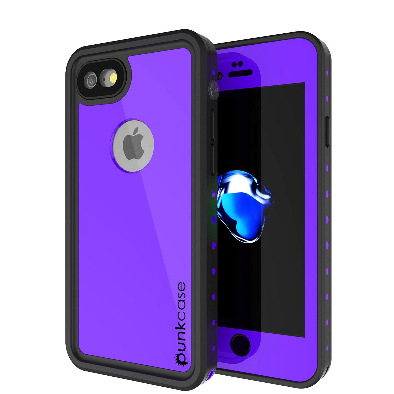 iPhone 7 Waterproof IP68 Case, Punkcase [Puple] [StudStar Series] [Slim Fit] [Dirtproof] [Snowproof]