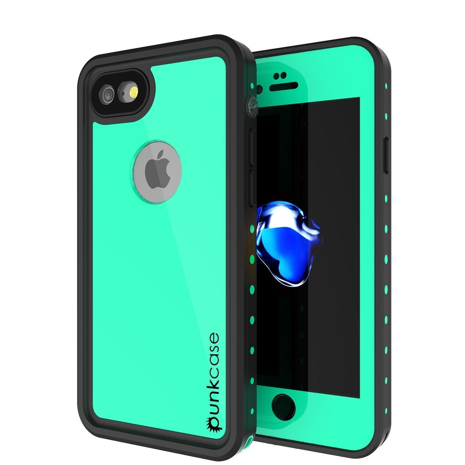 "iPhone SE (4.7"") Waterproof Case, Punkcase [Teal] [StudStar Series] [Slim Fit] [IP68 Certified]] [Dirtproof] [Snowproof]"