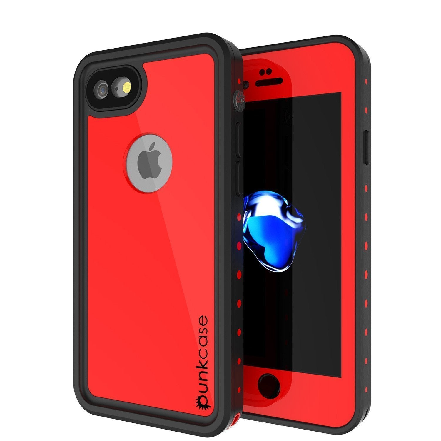 "iPhone SE (4.7"") Waterproof Case, Punkcase [Red] [StudStar Series] [Slim Fit] [IP68 Certified]  [Dirtproof] [Snowproof]"