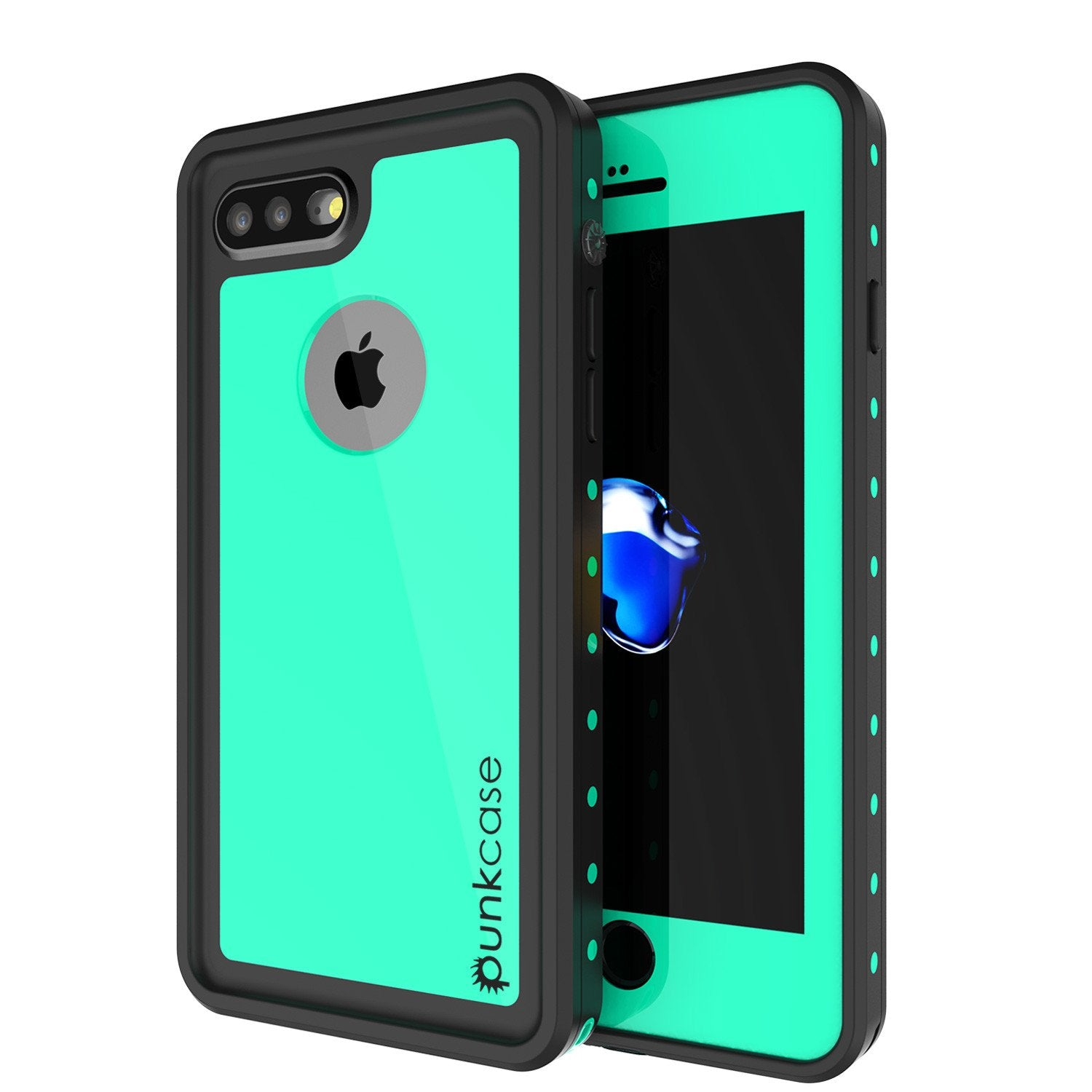 iPhone 8+ Plus Waterproof IP68 Case, Punkcase [Teal] [StudStar Series] [Slim Fit] [Dirtproof]