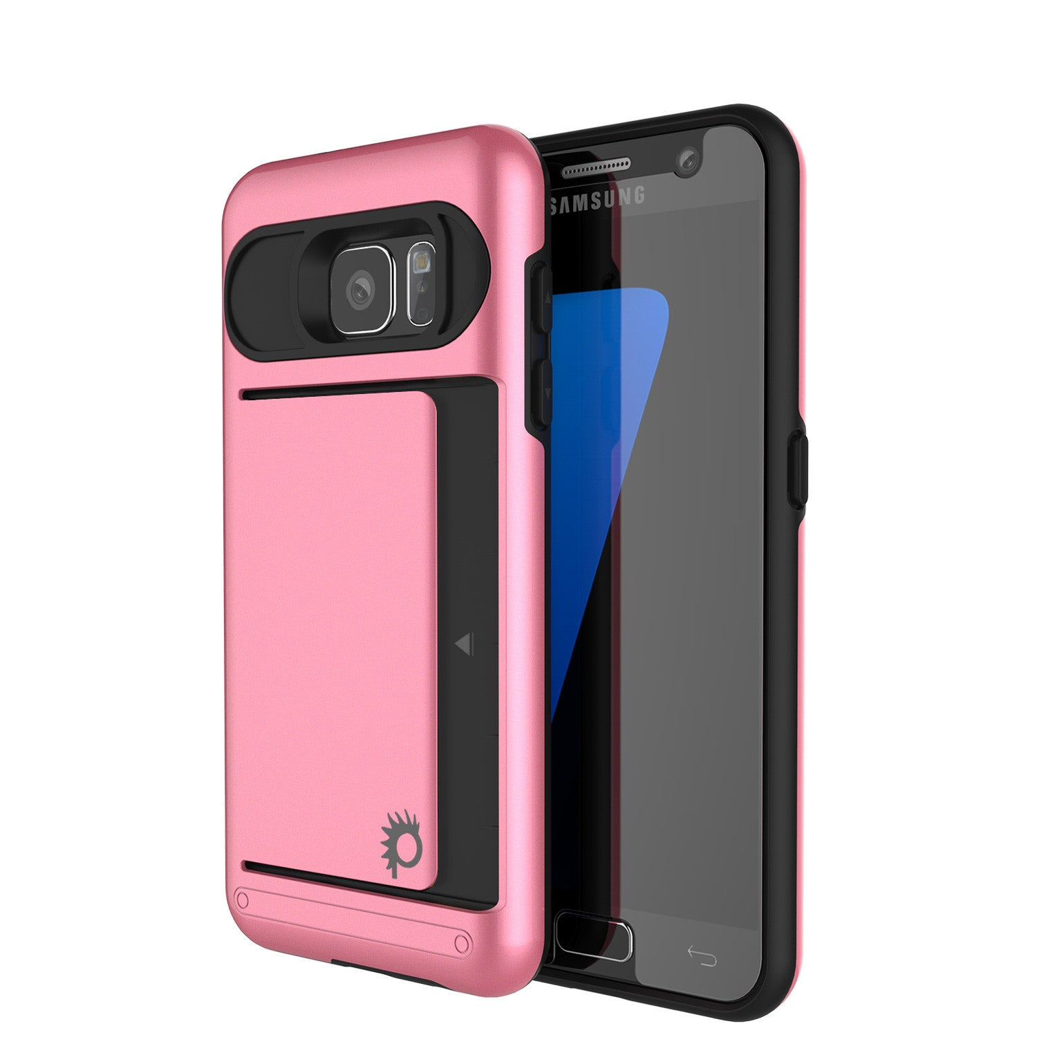 Galaxy S7 EDGE Case PunkCase CLUTCH Pink Series Slim Armor Soft Cover Case w/ Screen Protector