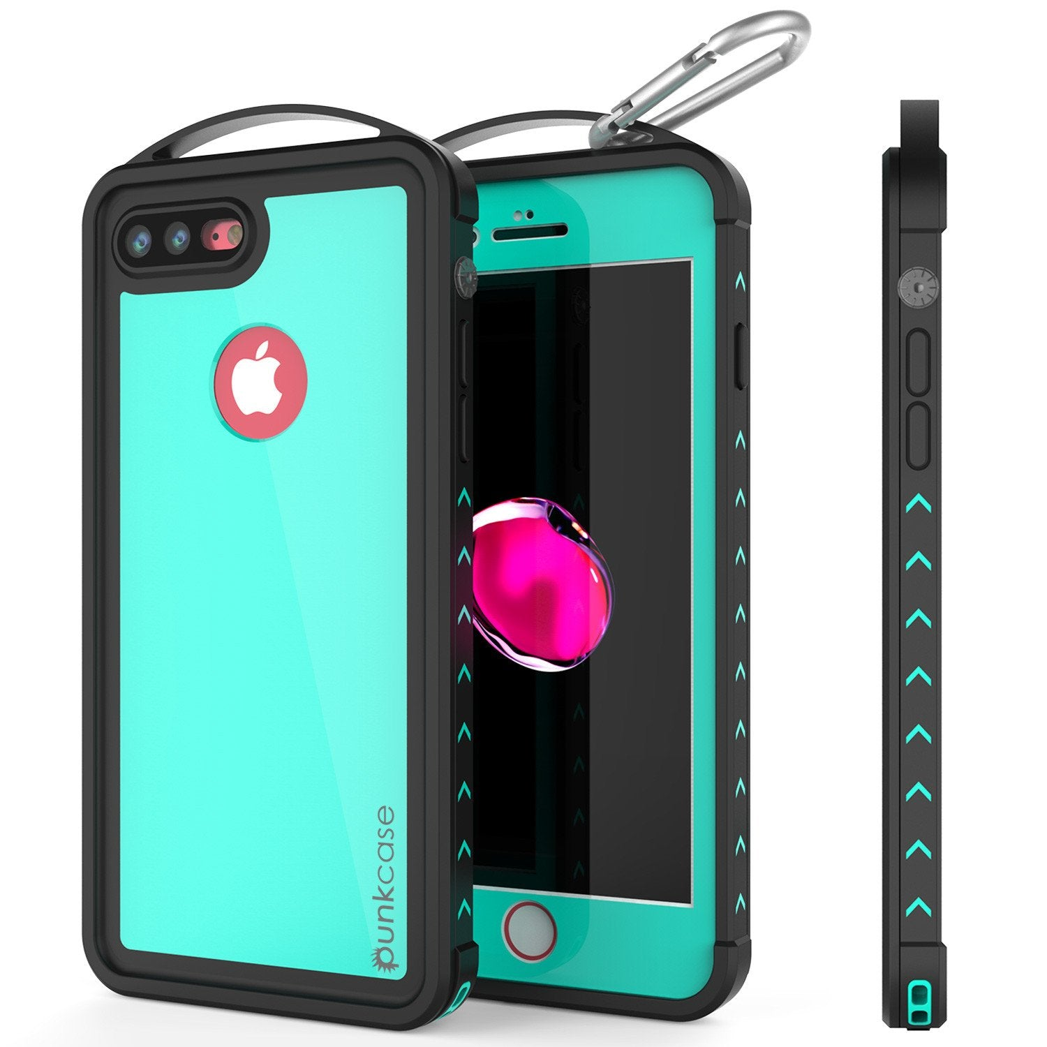 iPhone 8+ Plus Waterproof Case, Punkcase ALPINE Series, Teal | Heavy Duty Armor Cover