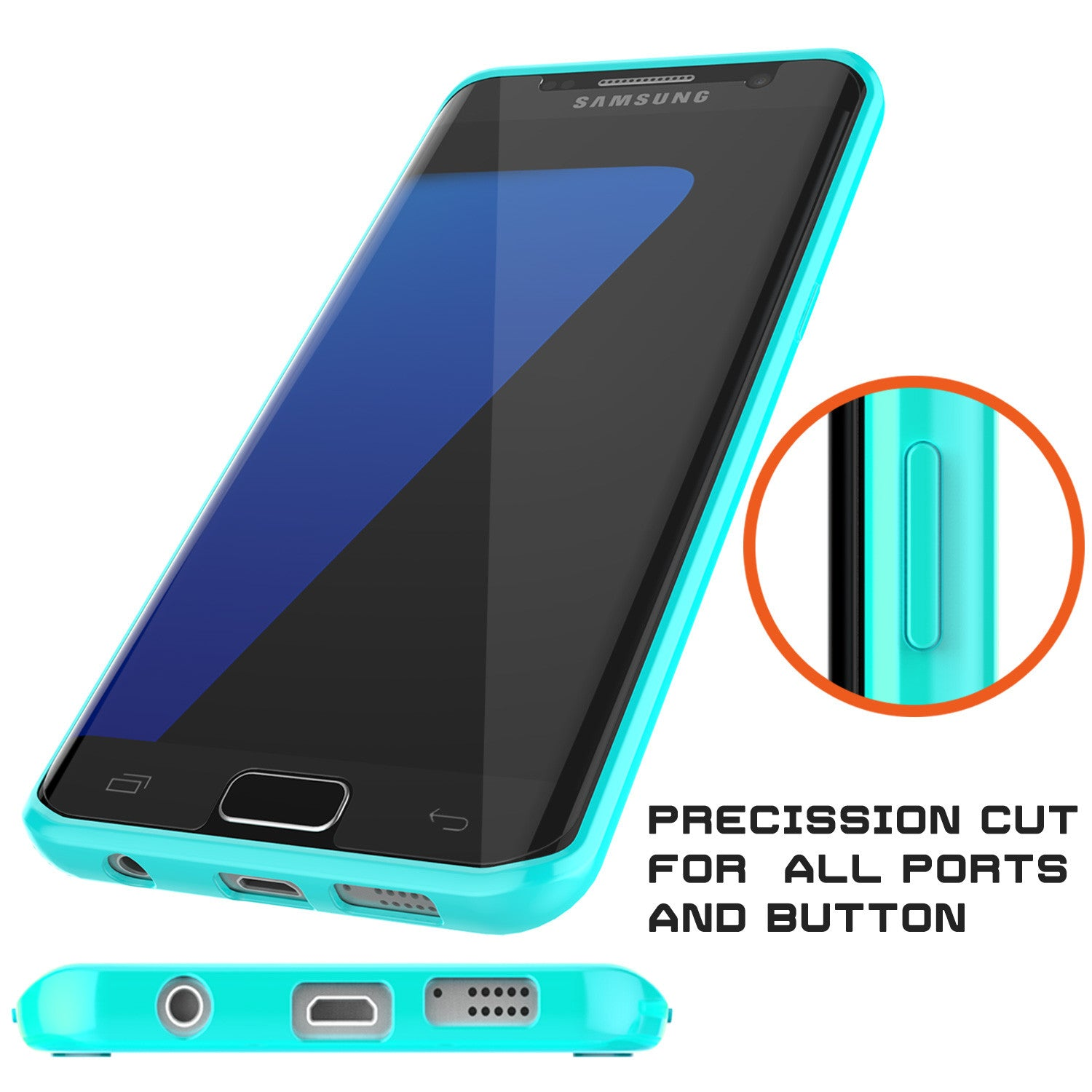 S7 Edge Case Punkcase® LUCID 2.0 Teal Series w/ PUNK SHIELD Screen Protector | Ultra Fit