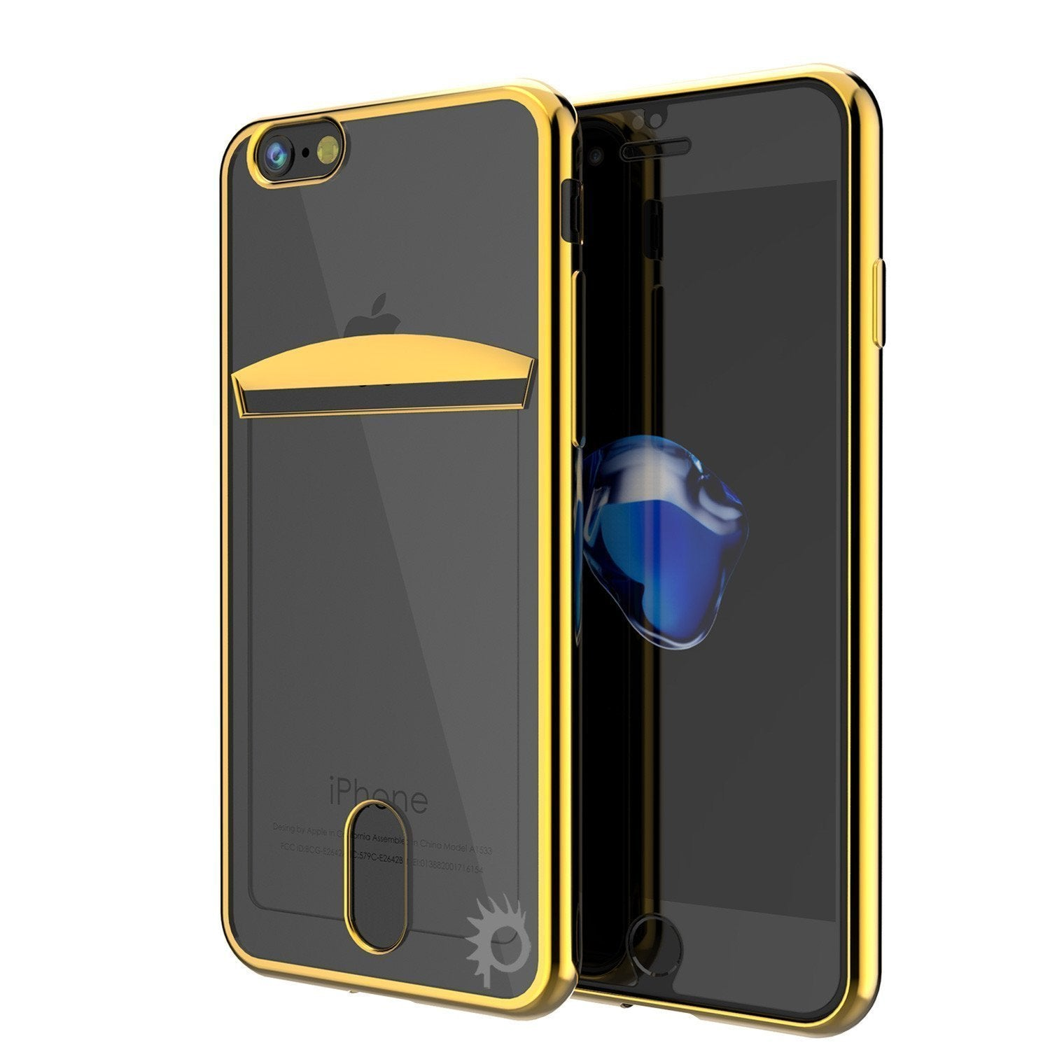 "iPhone SE (4.7"") Case, PUNKCASE® LUCID Gold Series 