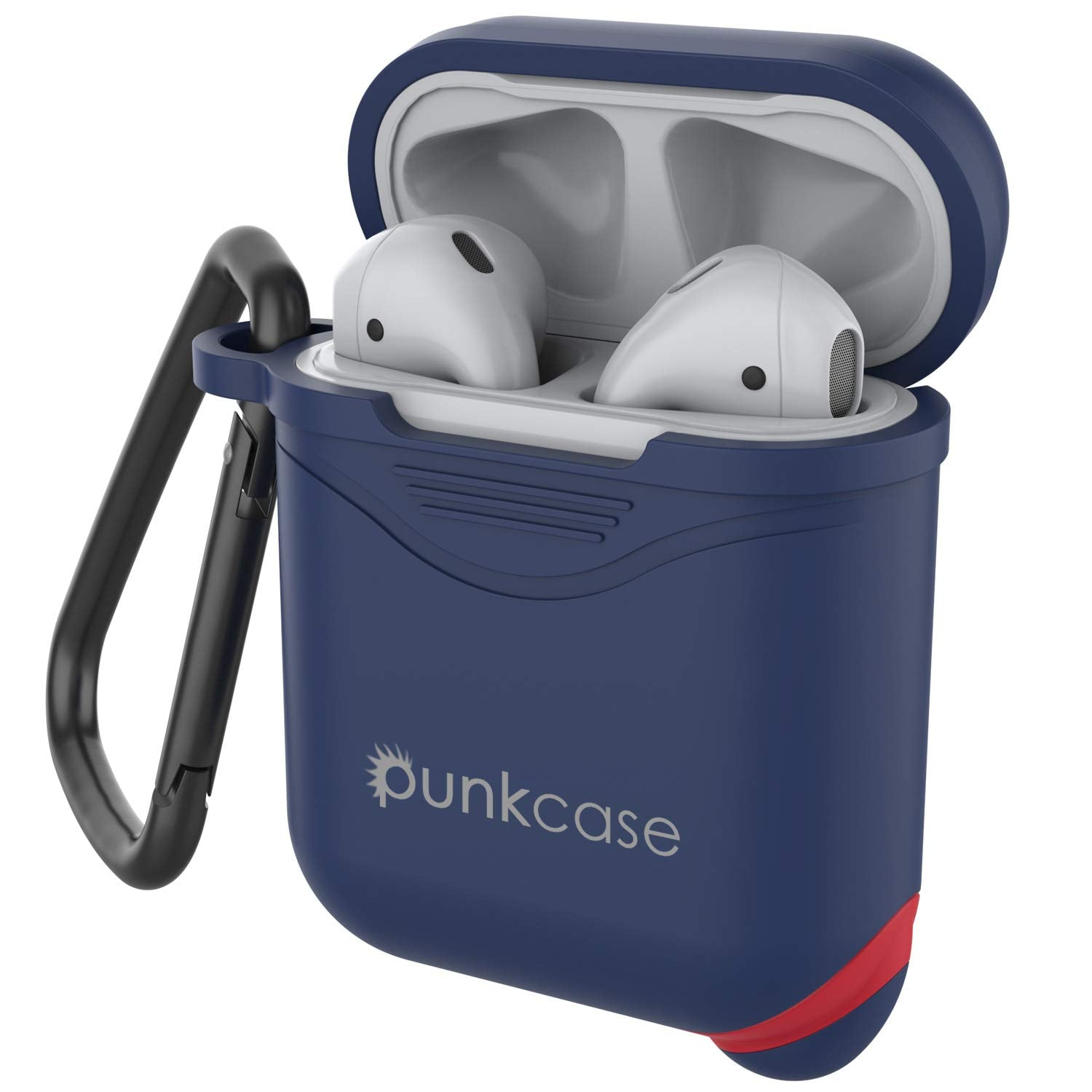 Punkcase Airpod Case with Keychain (Navy-Blue)