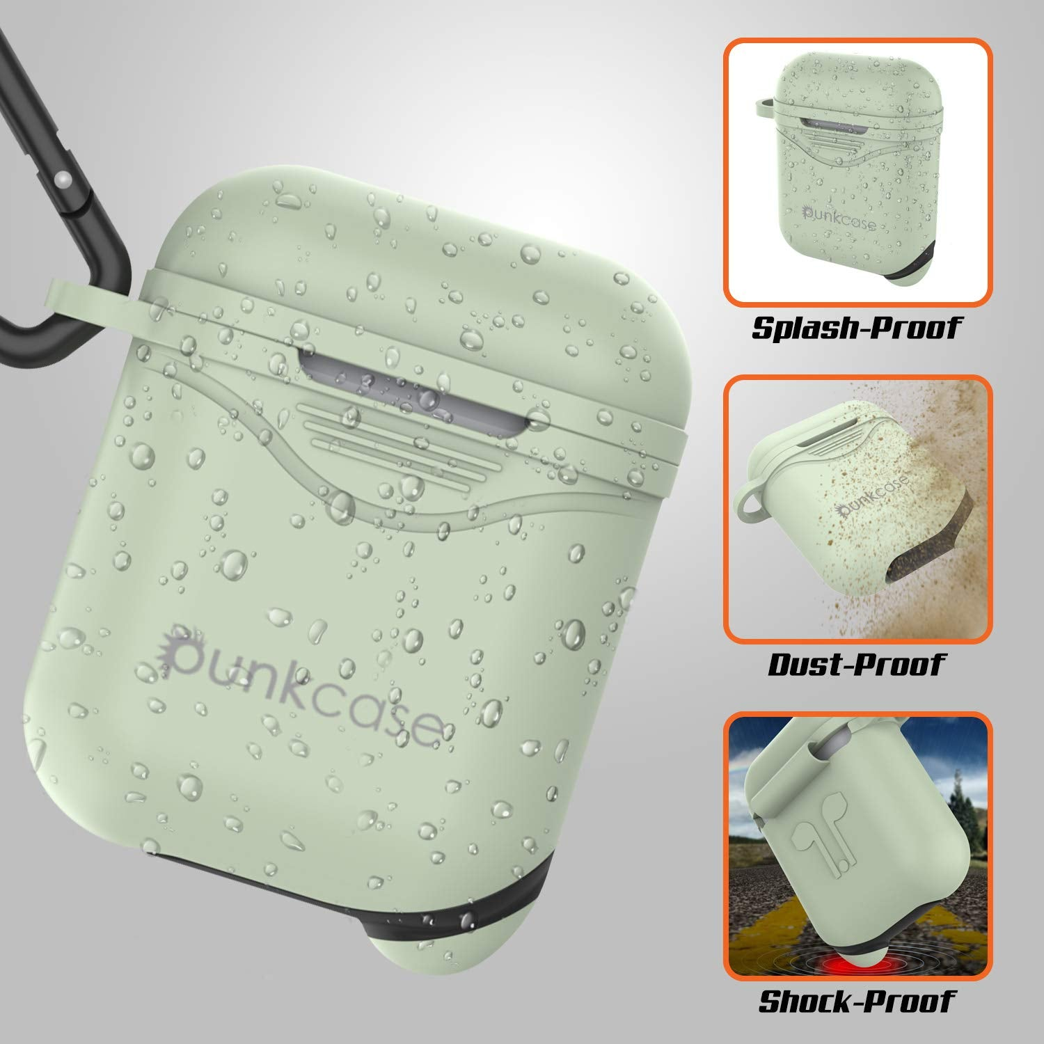 Punkcase Airpod Case with Keychain (Mint-Green)