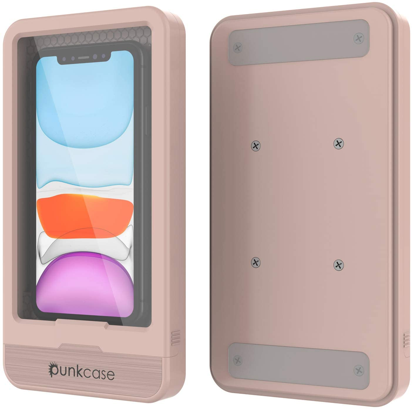 PunkCase Bathroom Phone Holder | Universal Waterproof Shower Case W/Full Touch Screen Control [Pink]