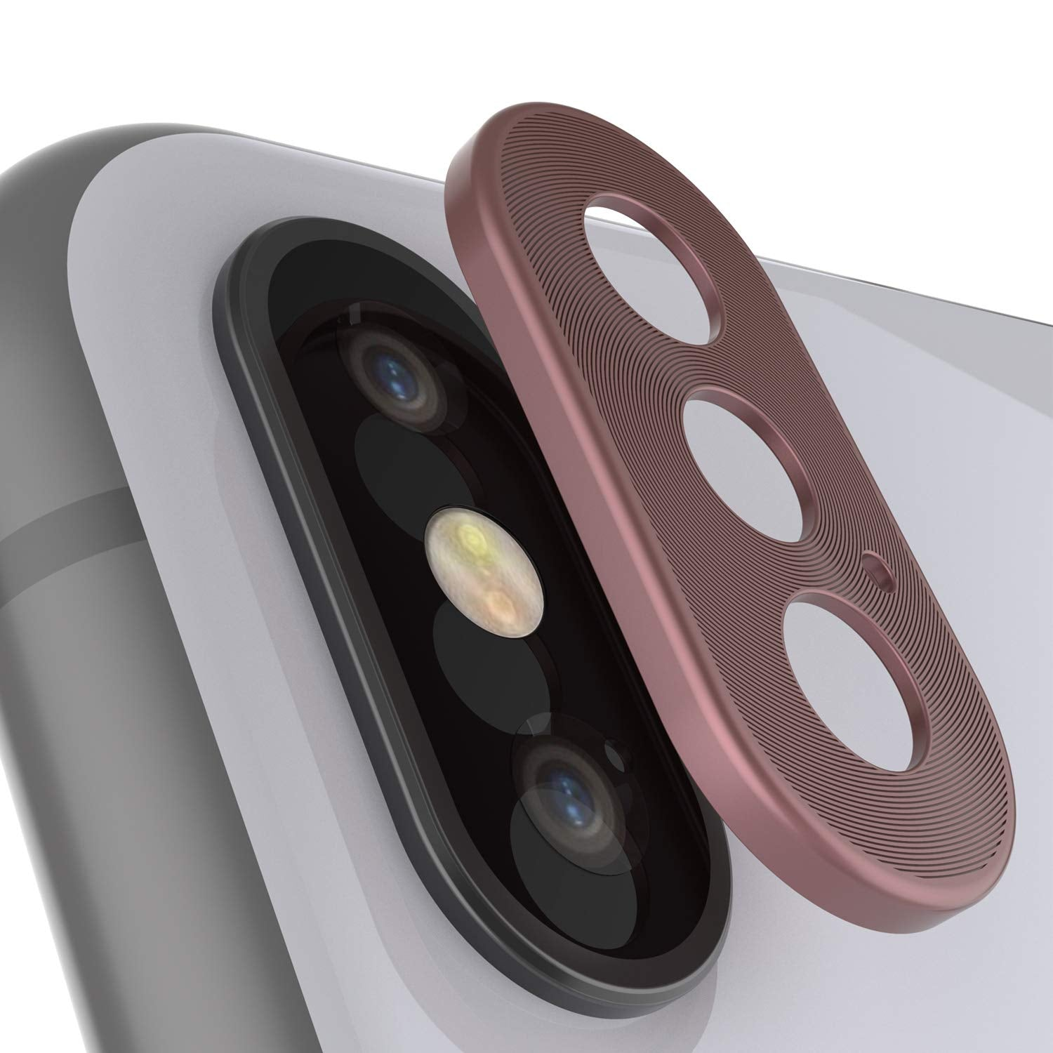 Punkcase iPhone XS Max Camera Protector Ring [Rose-Gold]