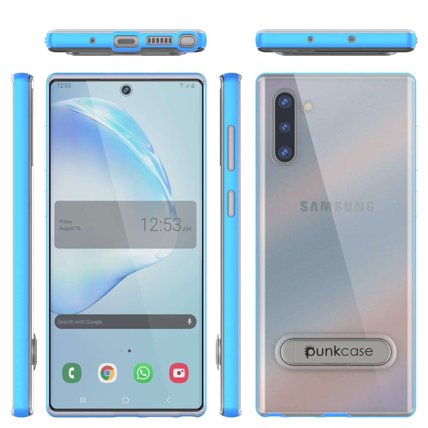 Galaxy Note 10 Lucid 3.0 PunkCase Armor Cover w/Integrated Kickstand and Screen Protector [Blue]