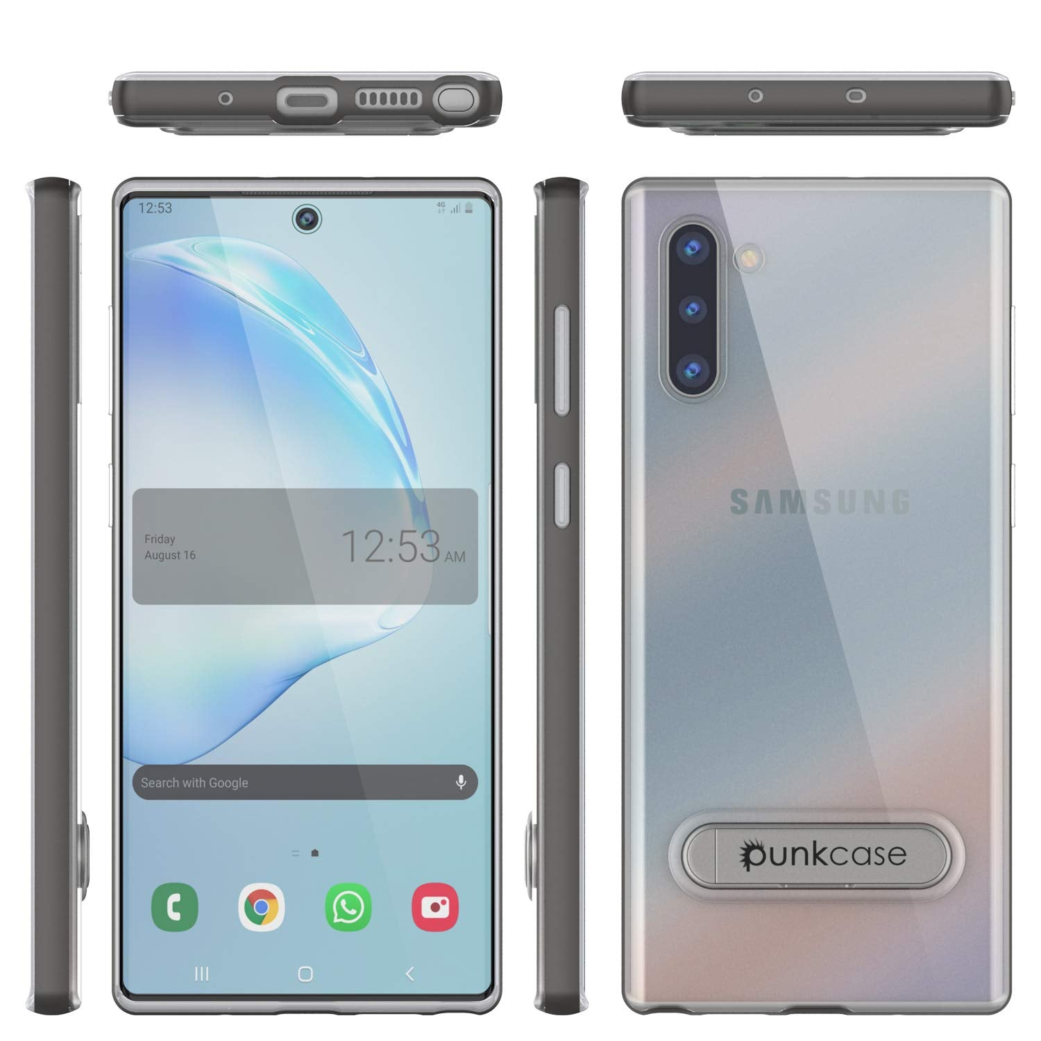 Galaxy Note 10 Lucid 3.0 PunkCase Armor Cover w/Integrated Kickstand and Screen Protector [Grey]
