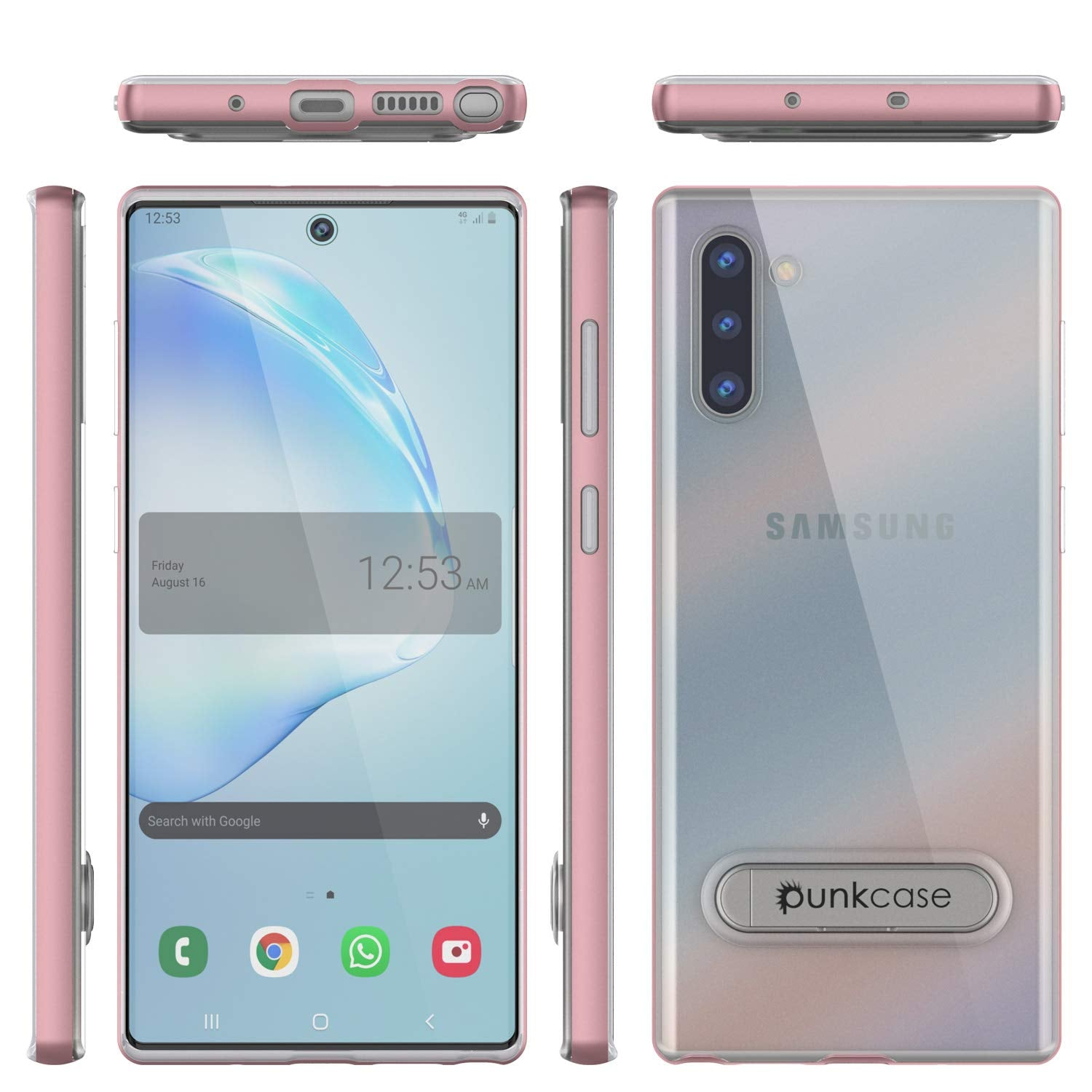 Galaxy Note 10 Lucid 3.0 PunkCase Armor Cover w/Integrated Kickstand and Screen Protector [Rose Gold]