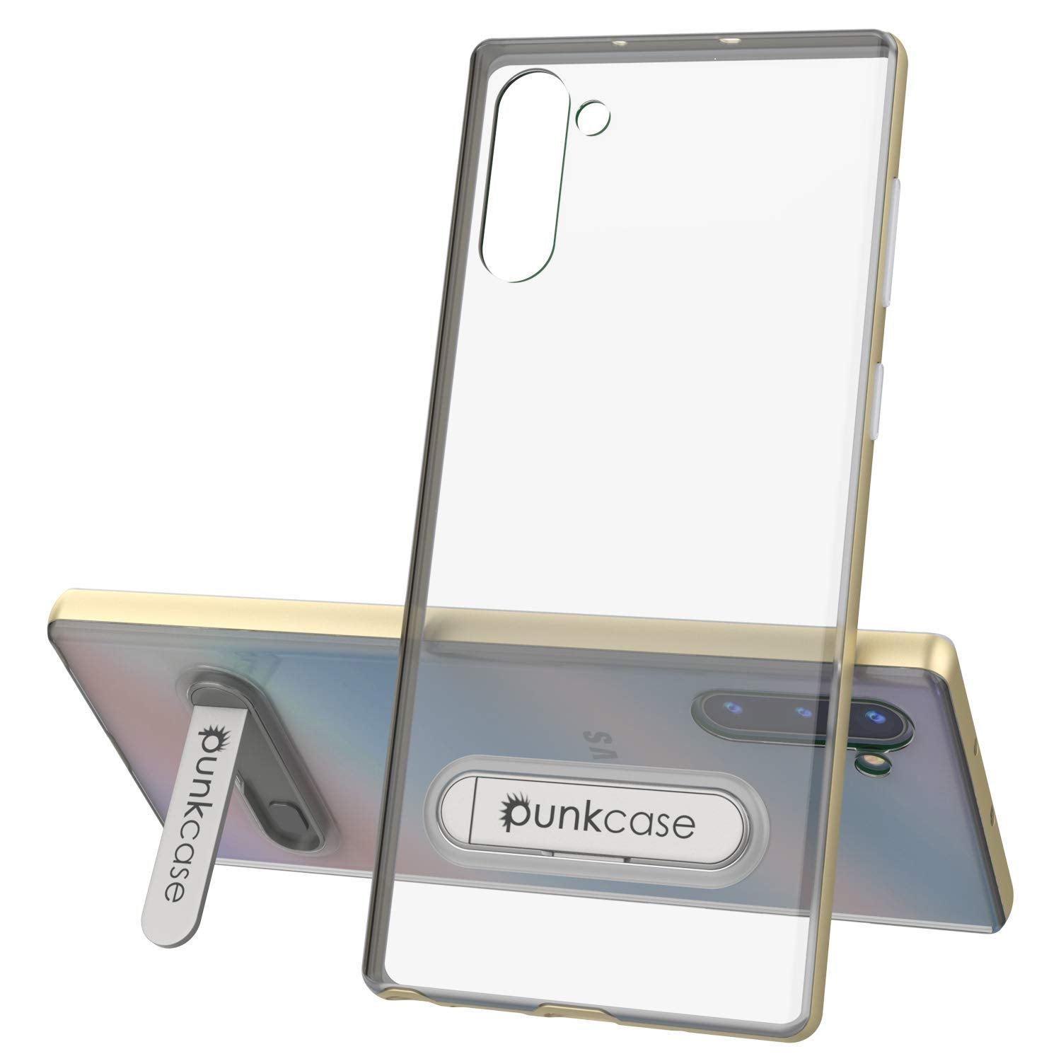Galaxy Note 10 Lucid 3.0 PunkCase Armor Cover w/Integrated Kickstand and Screen Protector [Gold]