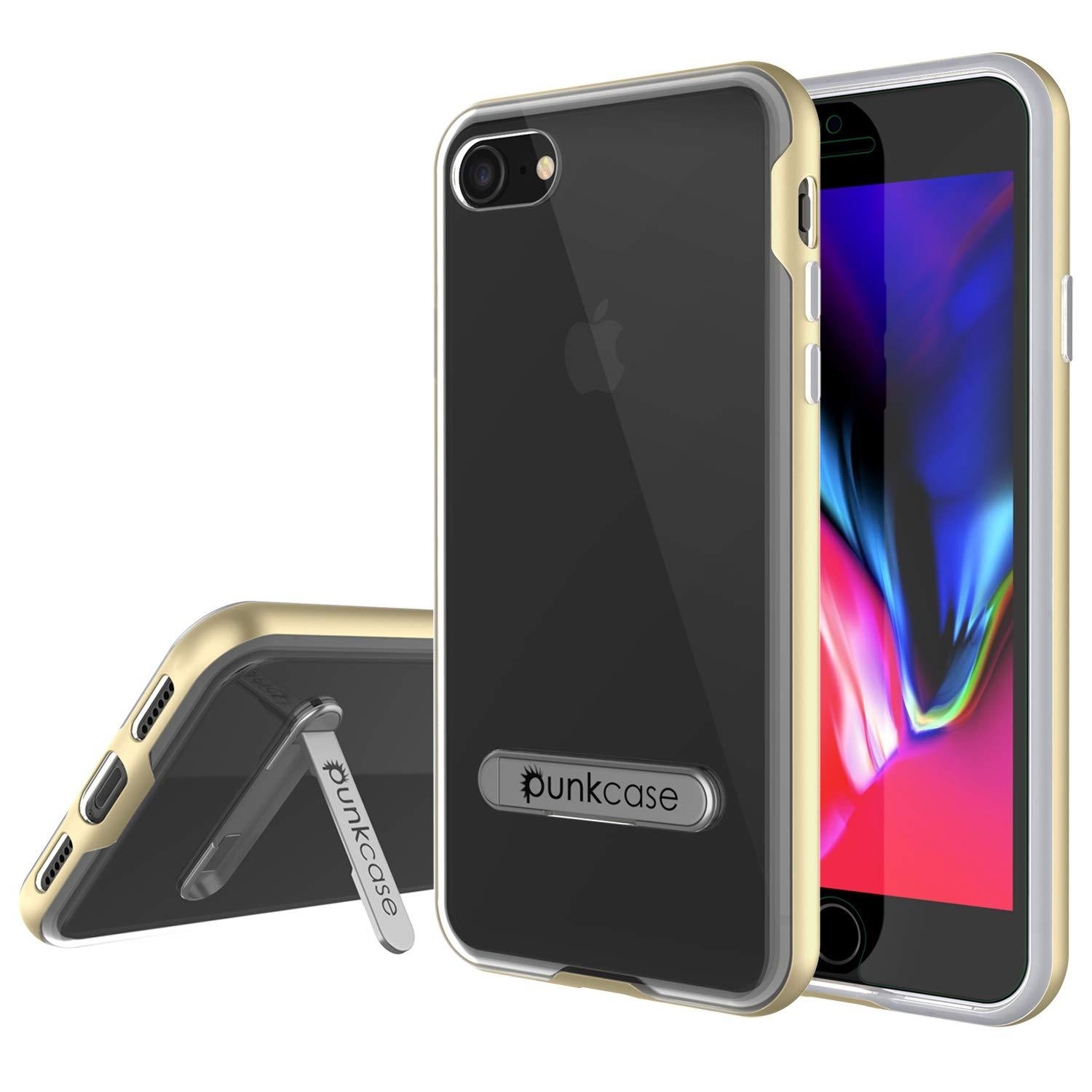 "PunkCase iPhone SE (4.7"") Lucid 3.0 Screen Protector W/ Anti-Shock Case [Gold]"