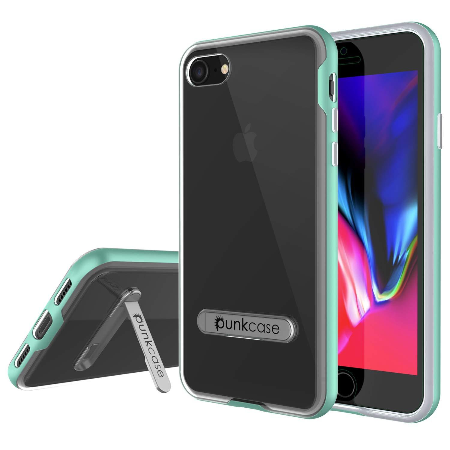 "PunkCase iPhone SE (4.7"") Lucid 3.0 Screen Protector W/ Anti-Shock Case [Teal]"