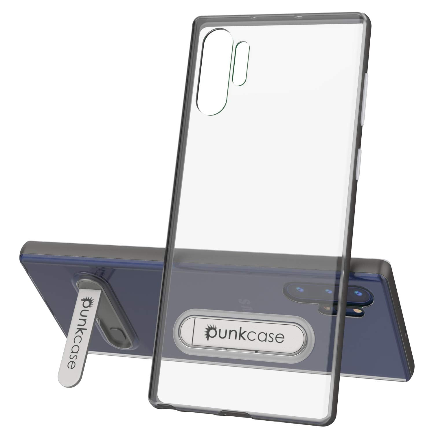 Galaxy Note 10+ Plus Lucid 3.0 PunkCase Armor Cover w/Integrated Kickstand and Screen Protector [Grey]