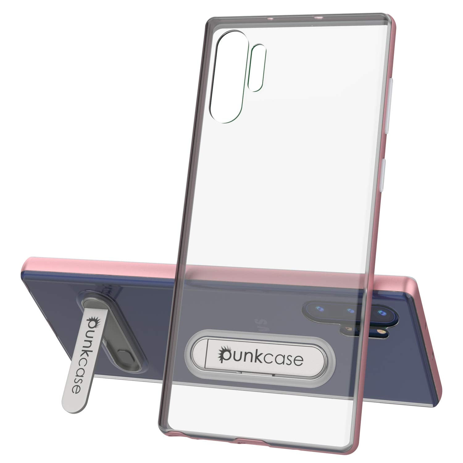 Galaxy Note 10+ Plus Lucid 3.0 PunkCase Armor Cover w/Integrated Kickstand and Screen Protector [Rose Gold]