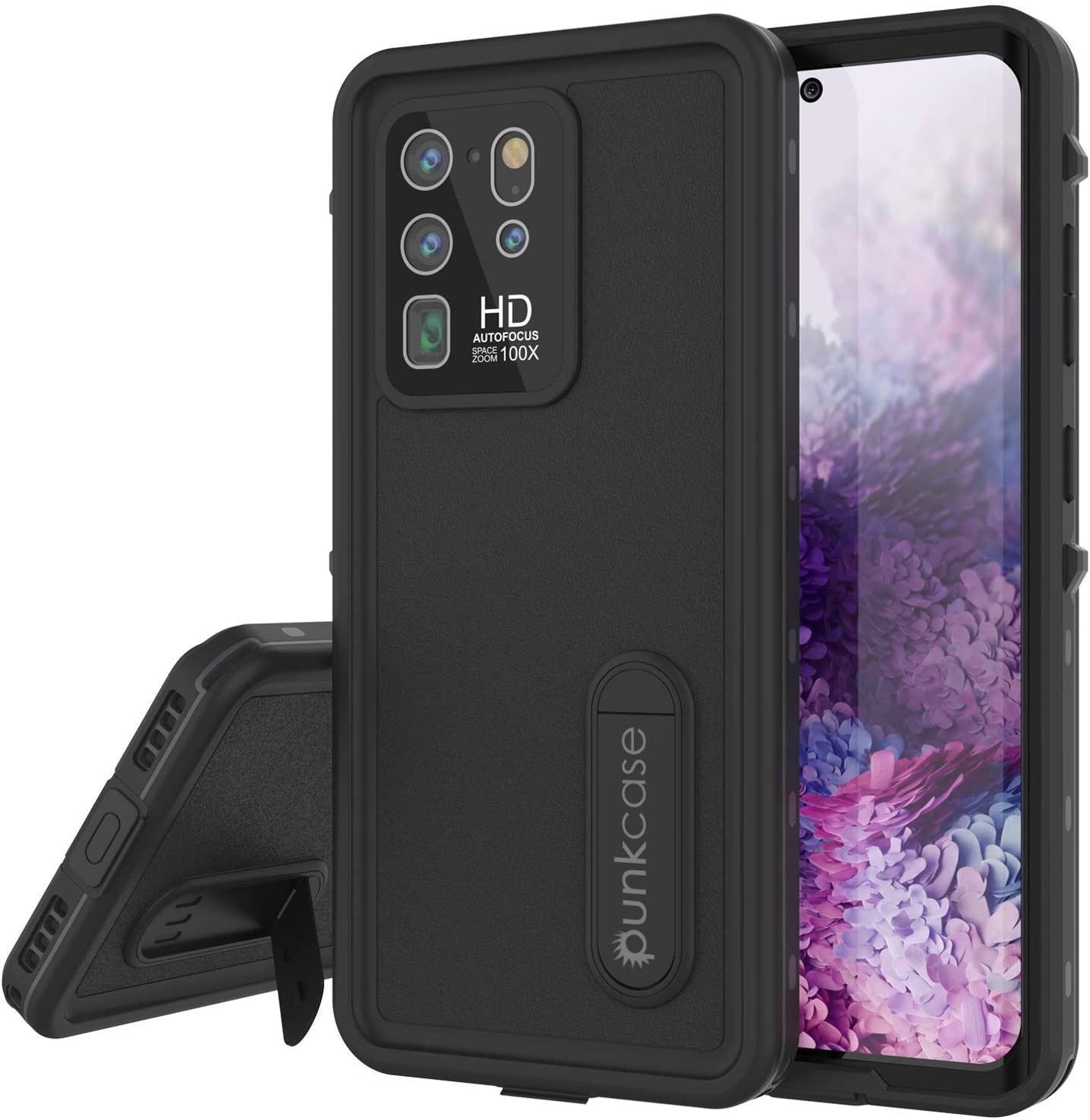 Galaxy S20 Ultra Waterproof Case, Punkcase [KickStud Series] Armor Cover [Black]