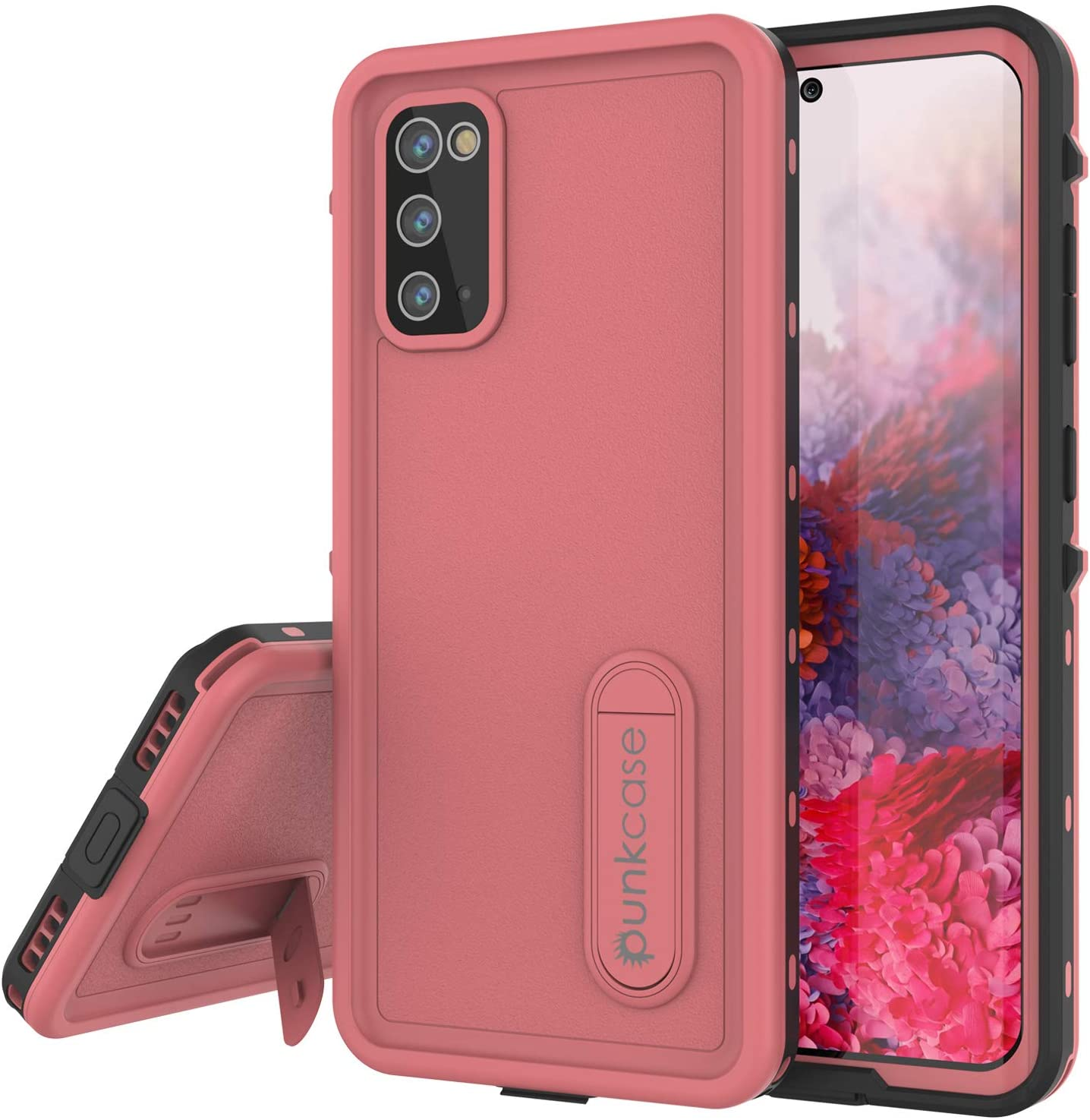 Galaxy S20 Waterproof Case, Punkcase [KickStud Series] Armor Cover [Pink]