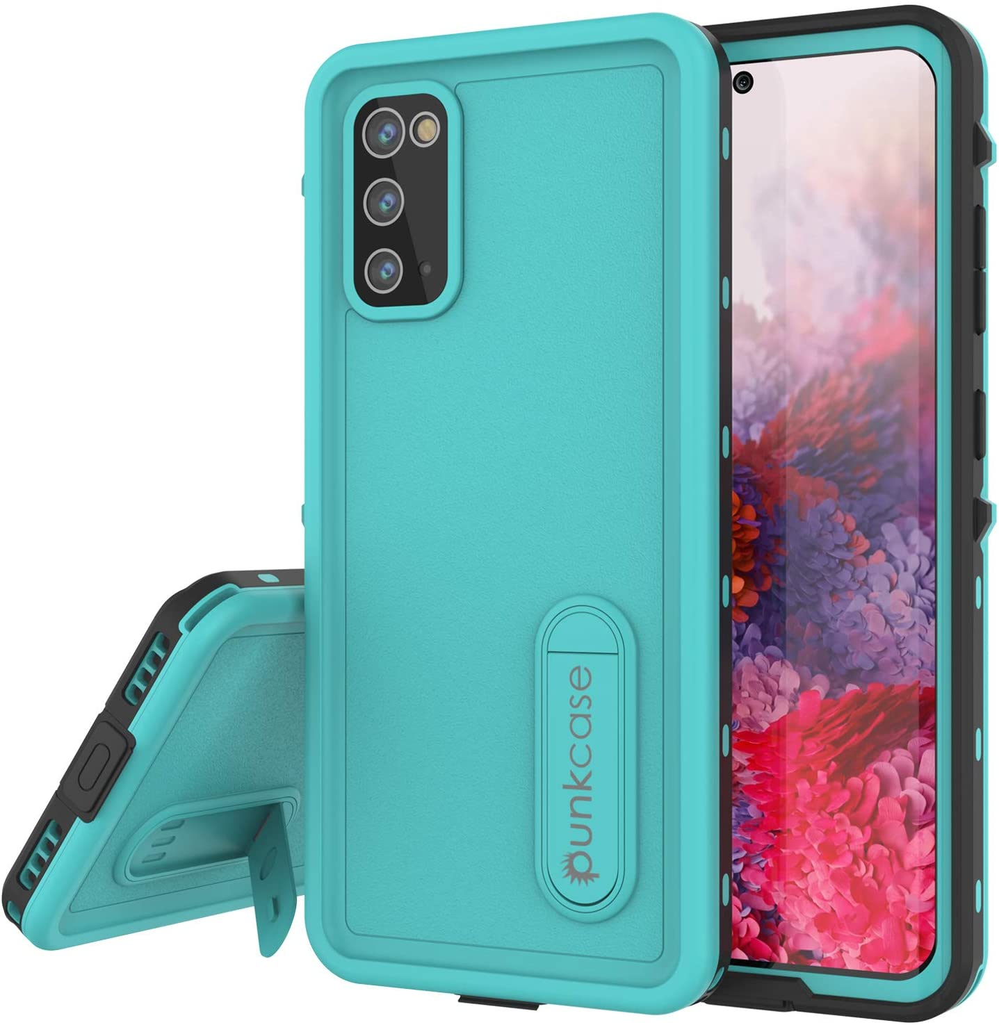 Galaxy S20 Waterproof Case, Punkcase [KickStud Series] Armor Cover [Teal]