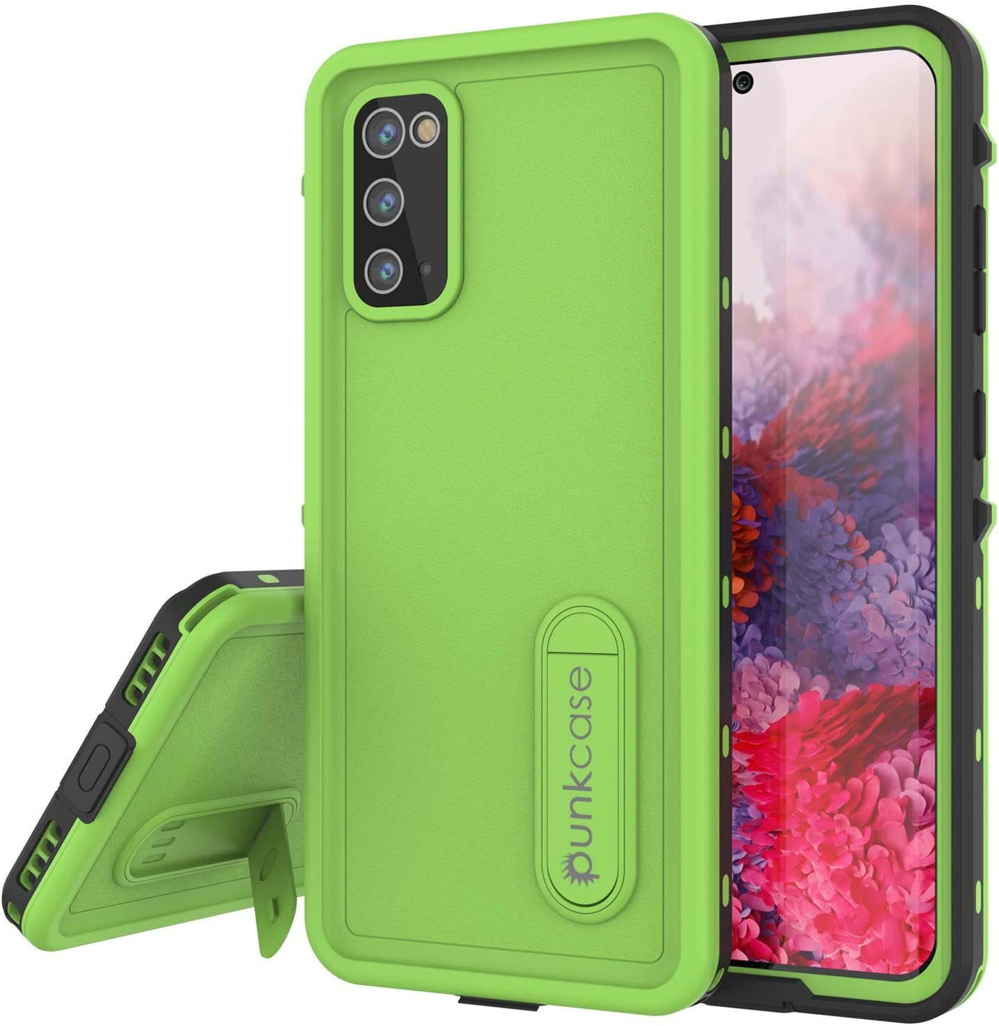 Galaxy S20 Waterproof Case, Punkcase [KickStud Series] Armor Cover [Light Green]