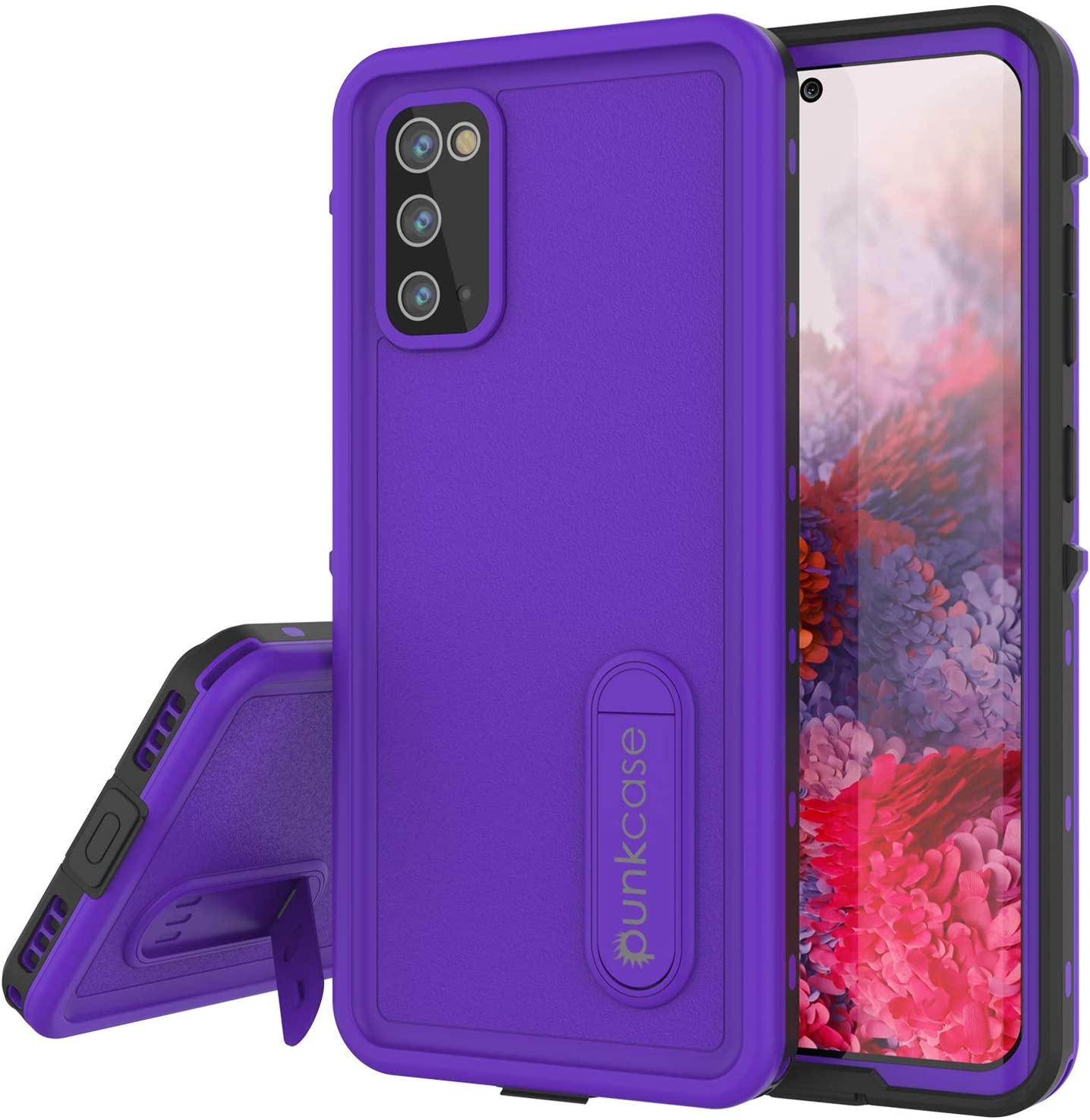 Galaxy S20 Waterproof Case, Punkcase [KickStud Series] Armor Cover [Purple]