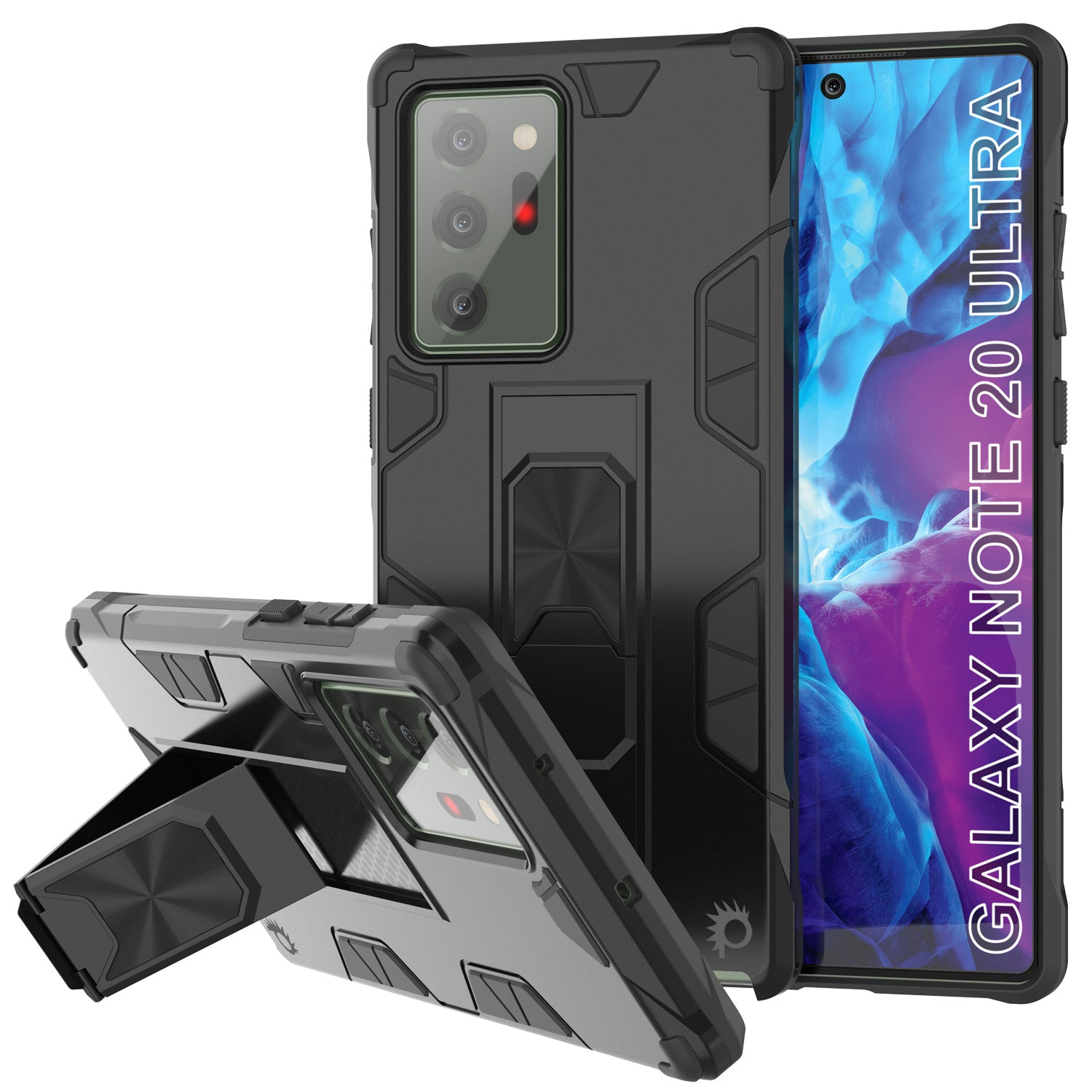 Punkcase Note 20 Ultra Case [ArmorShield Series] Military Style Protective Dual Layer Case Black