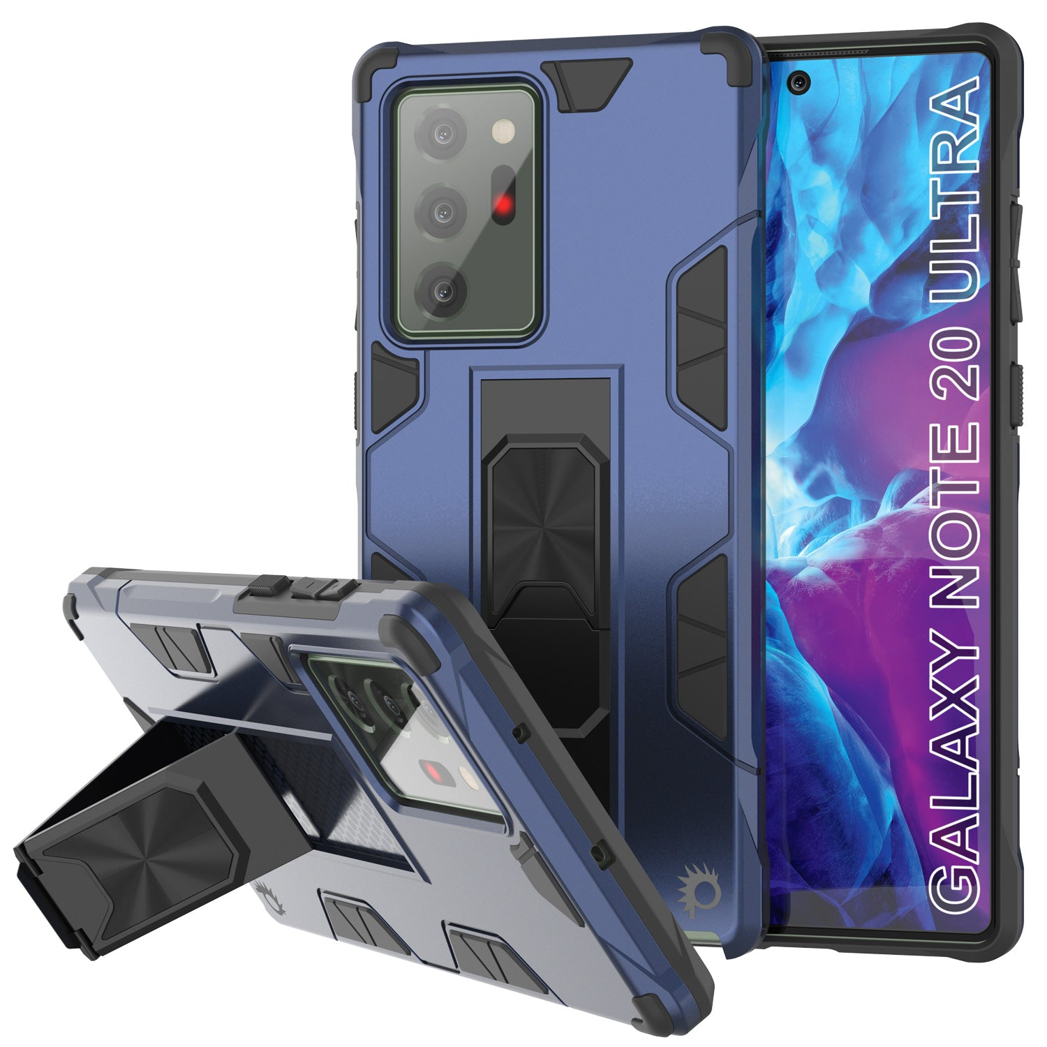 Punkcase Note 20 Ultra Case [ArmorShield Series] Military Style Protective Dual Layer Case Navy-Blue