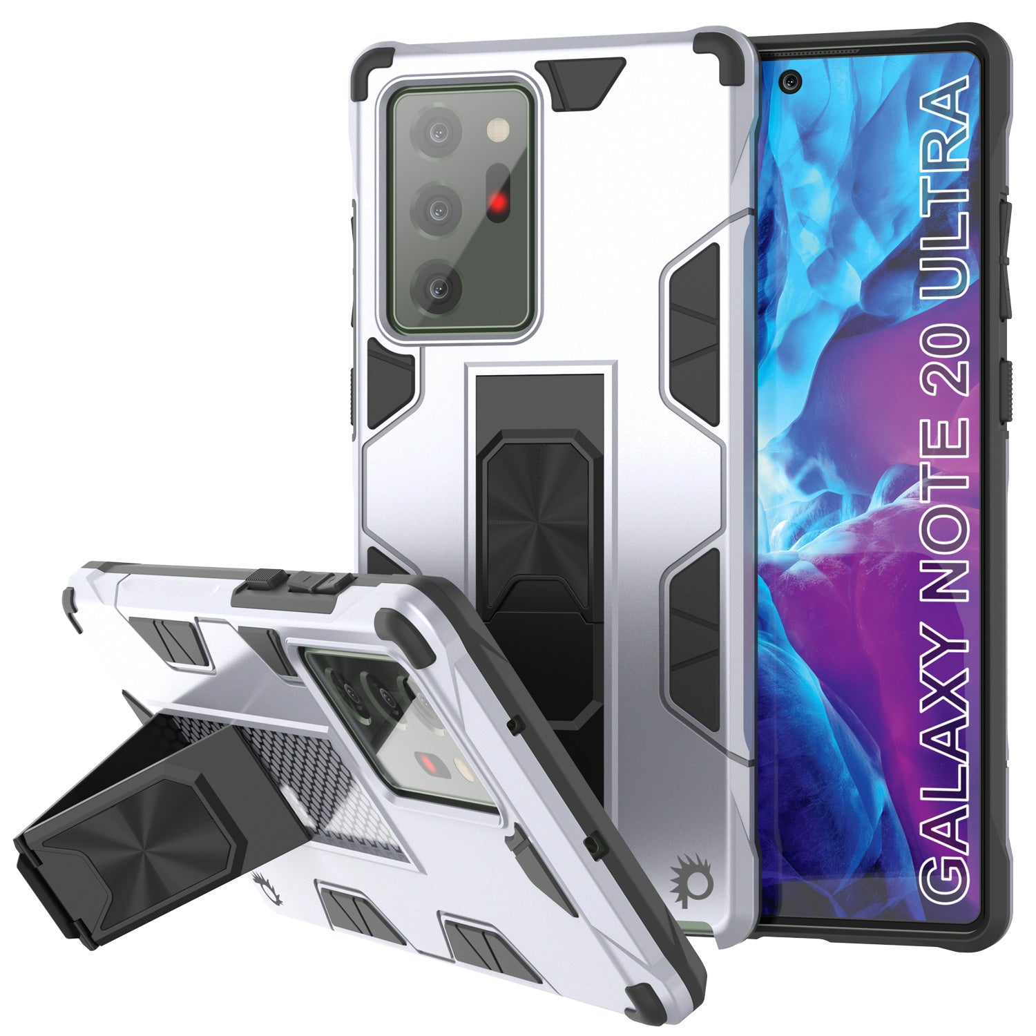 Punkcase Note 20 Ultra Case [ArmorShield Series] Military Style Protective Dual Layer Case White