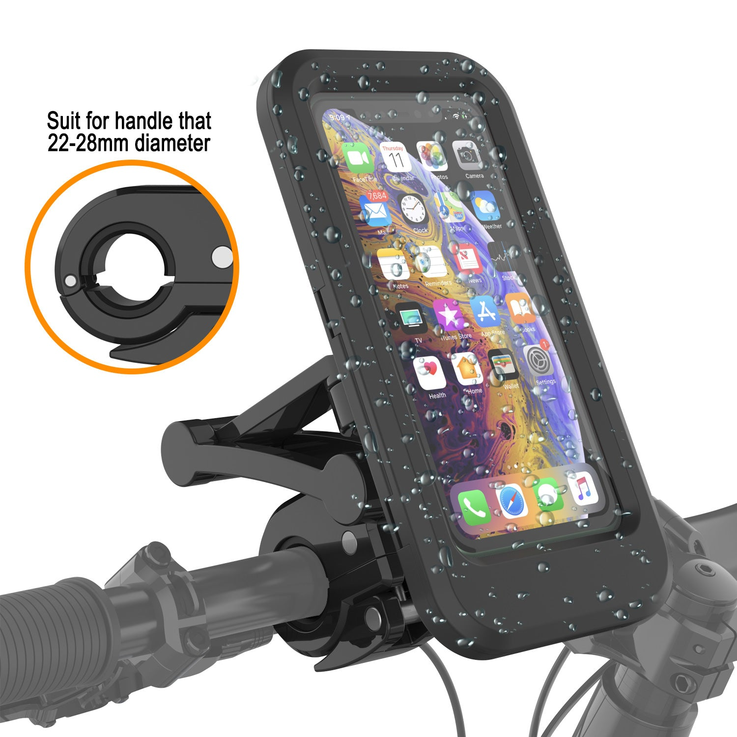 Punkcase Waterproof Bike Phone Case | Universal Handlebar Stand for Cellphones up to 6.7""